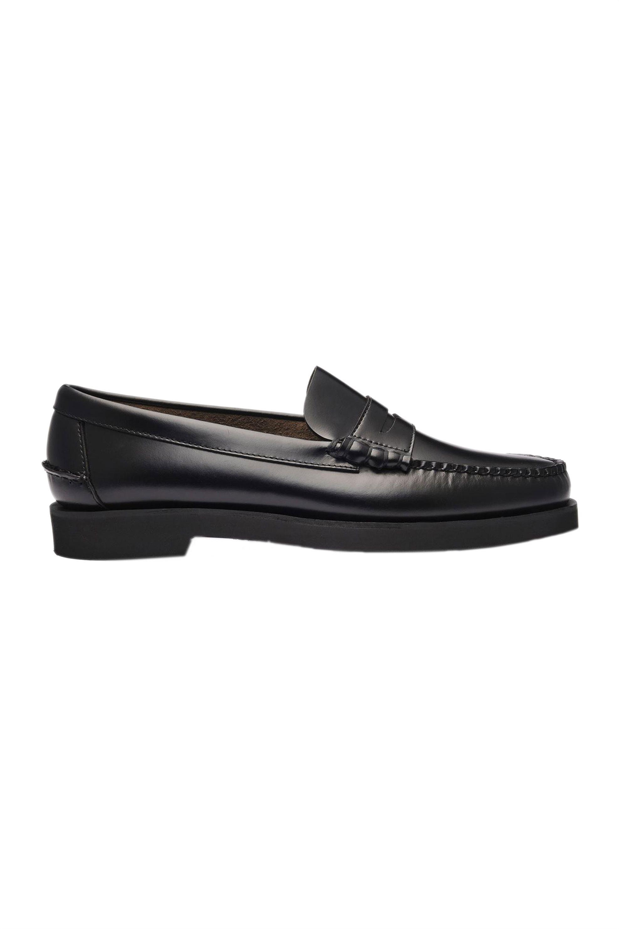 "Sebago® ανδρικά penny loafers δερμάτινα ""Dan Polaris"" – L7001GW0-902R – Μαύρο"