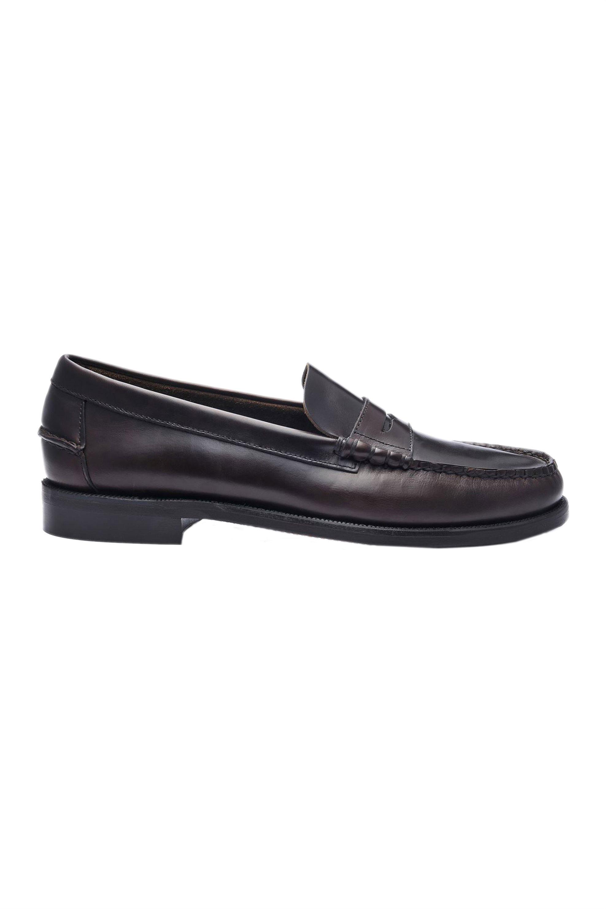 "Sebago® ανδρικά loafers δερμάτινα ""Classic Dan Waxy"" – L7000310-901W – Καφέ"