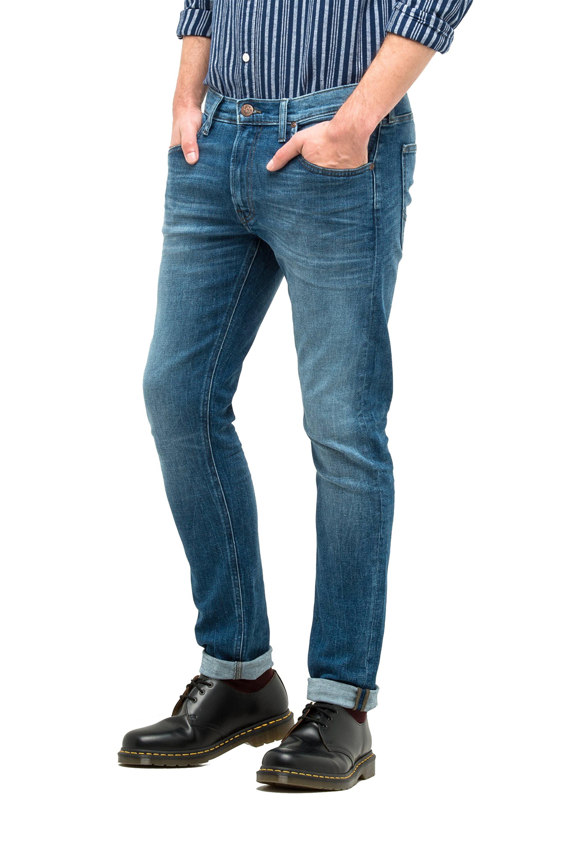 Ανδρικό παντελόνι τζην Luke slim tapered Lee - L719ROIG - Μπλε ανδρασ   ρουχα   jeans   slim   tapered