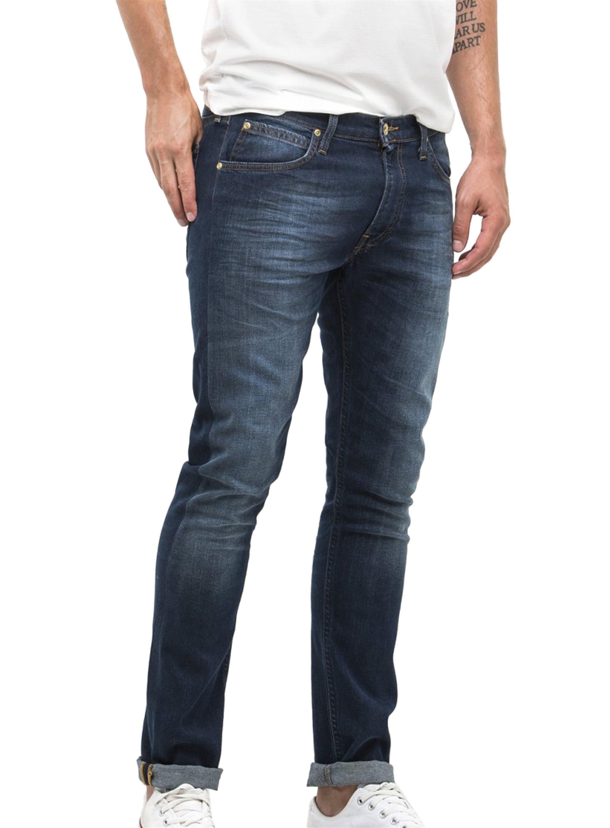 Lee Luke Slim Tapered ανδρικό τζην παντελόνι True Authentic - L719GCBY - Μπλε Σκ ανδρασ   ρουχα   jeans   slim   tapered