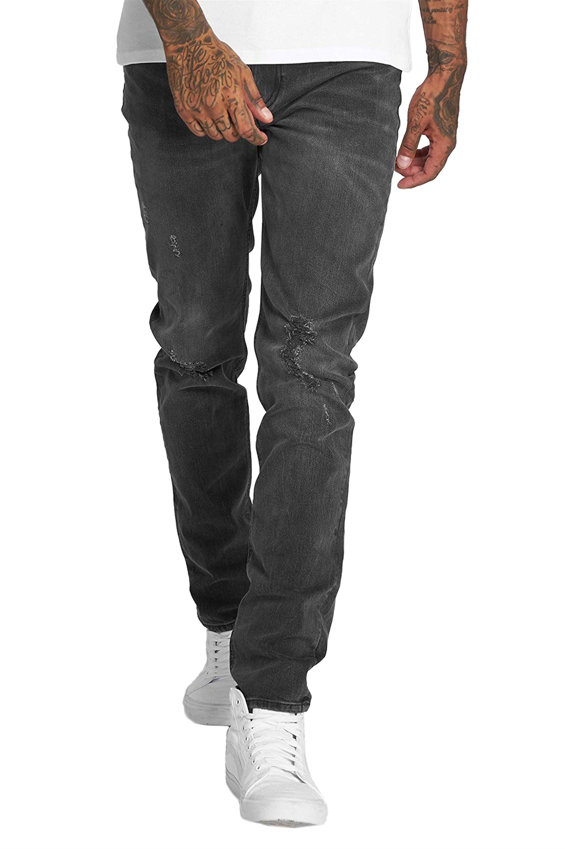 Lee Arvin regular tapered ανδρικό τζην παντελόνι Torn out - L732JBQC - Μαύρο ανδρασ   ρουχα   jeans   tapered