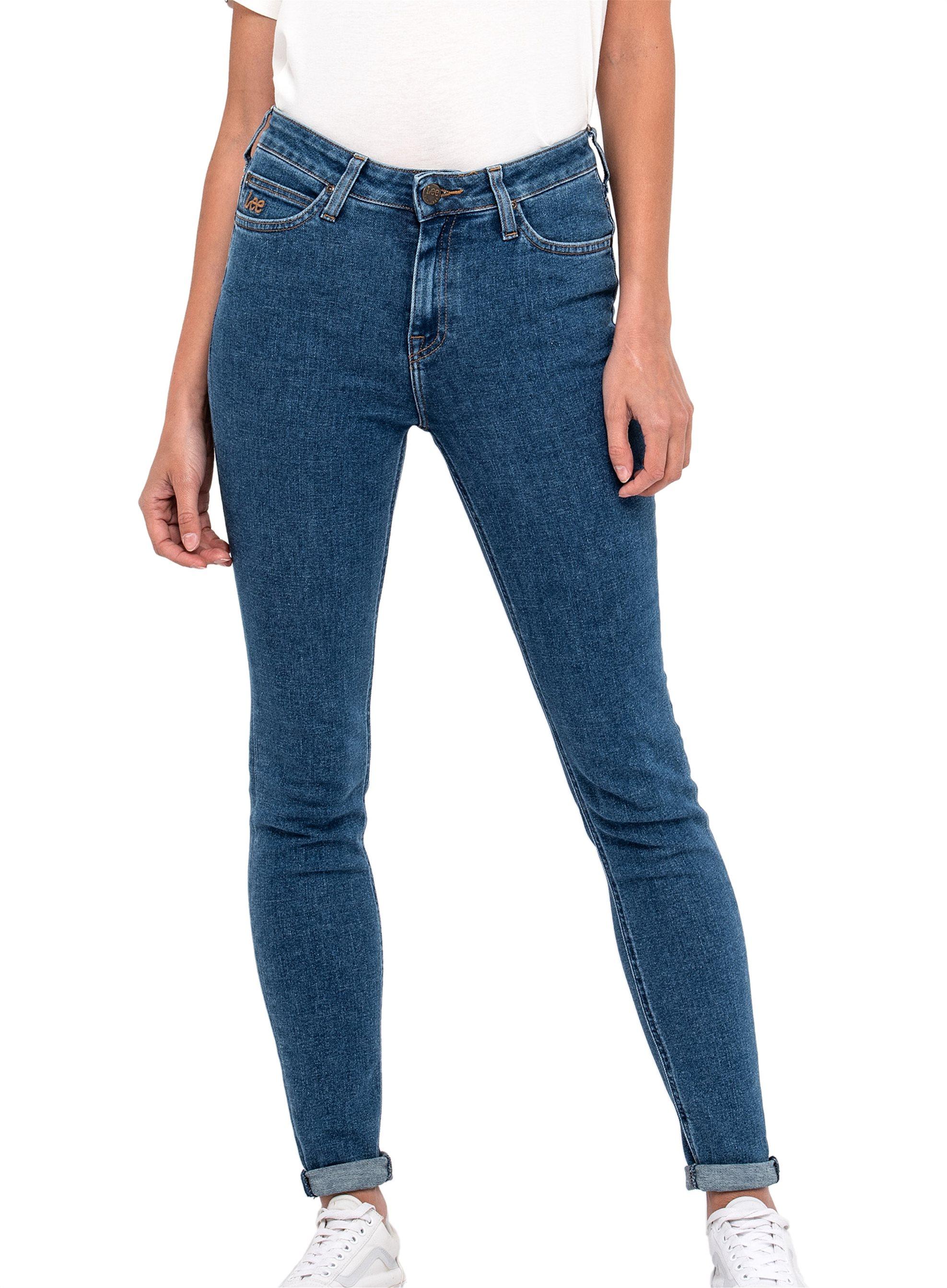 Notos Lee Scarlett High skinny γυναικείο τζην παντελόνι Flat Stone -  L31AROEO - Μπλε dbdf38a854b