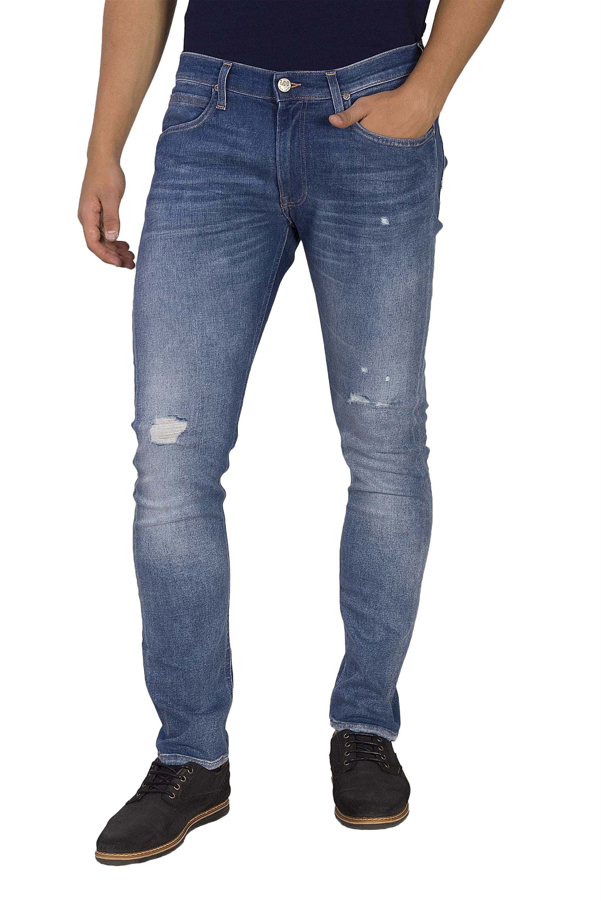 Lee Luke slim tapered ανδρικό τζην παντελόνι Broken Blue - L719RONK - Μπλε ανδρασ   ρουχα   jeans   slim   tapered