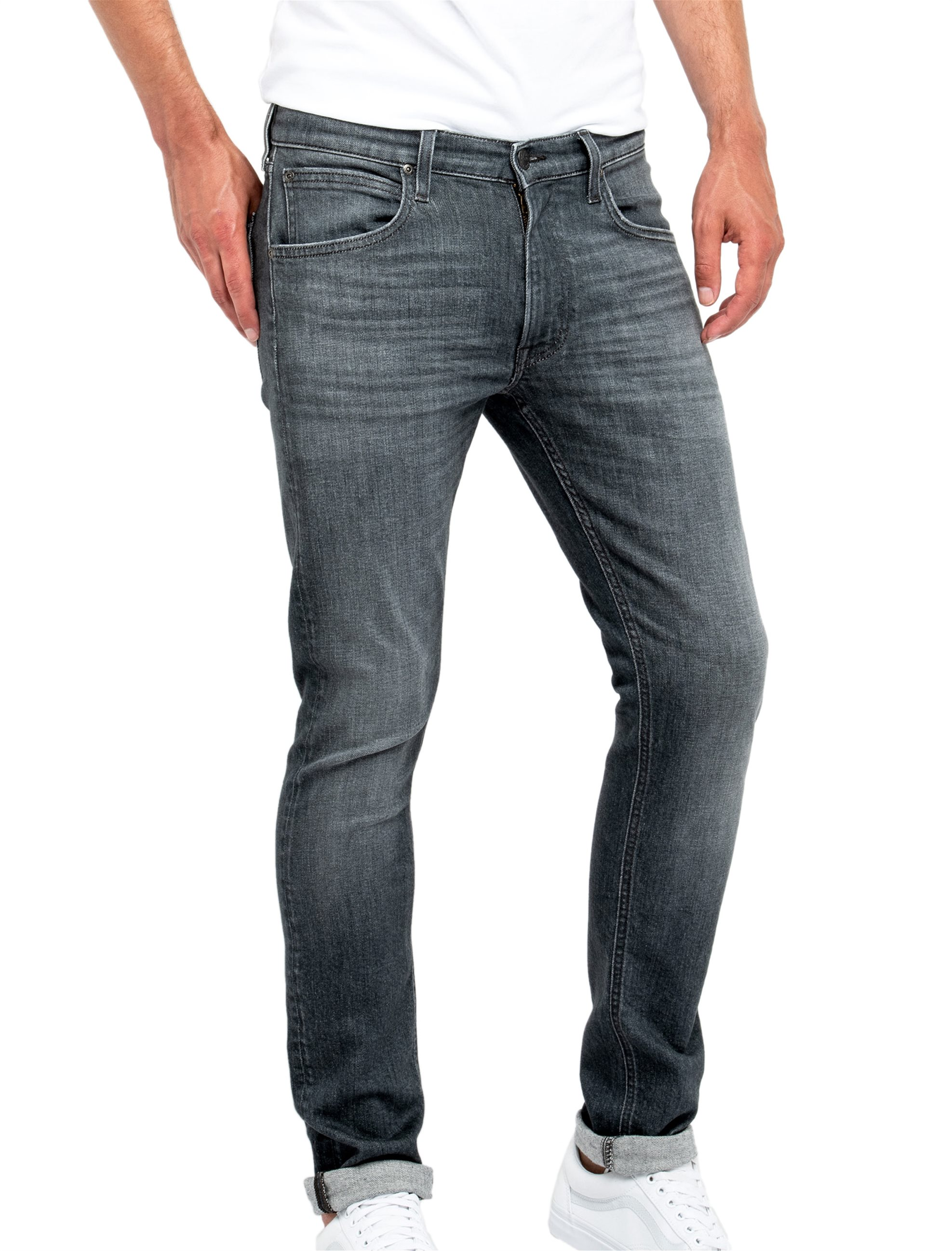 Lee Luke slim tapered ανδρικό τζην παντελόνι Grey Used - L719FQSF - Γκρι ανδρασ   ρουχα   jeans   slim   tapered