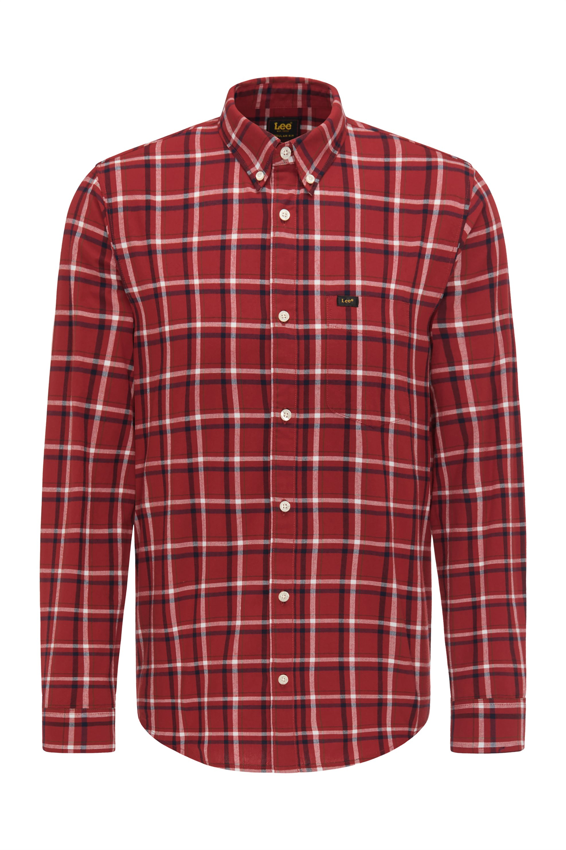 Lee ανδρικό πουκάμισο καρό με απλικέ τσέπη - L880RNOE - Κεραμιδί