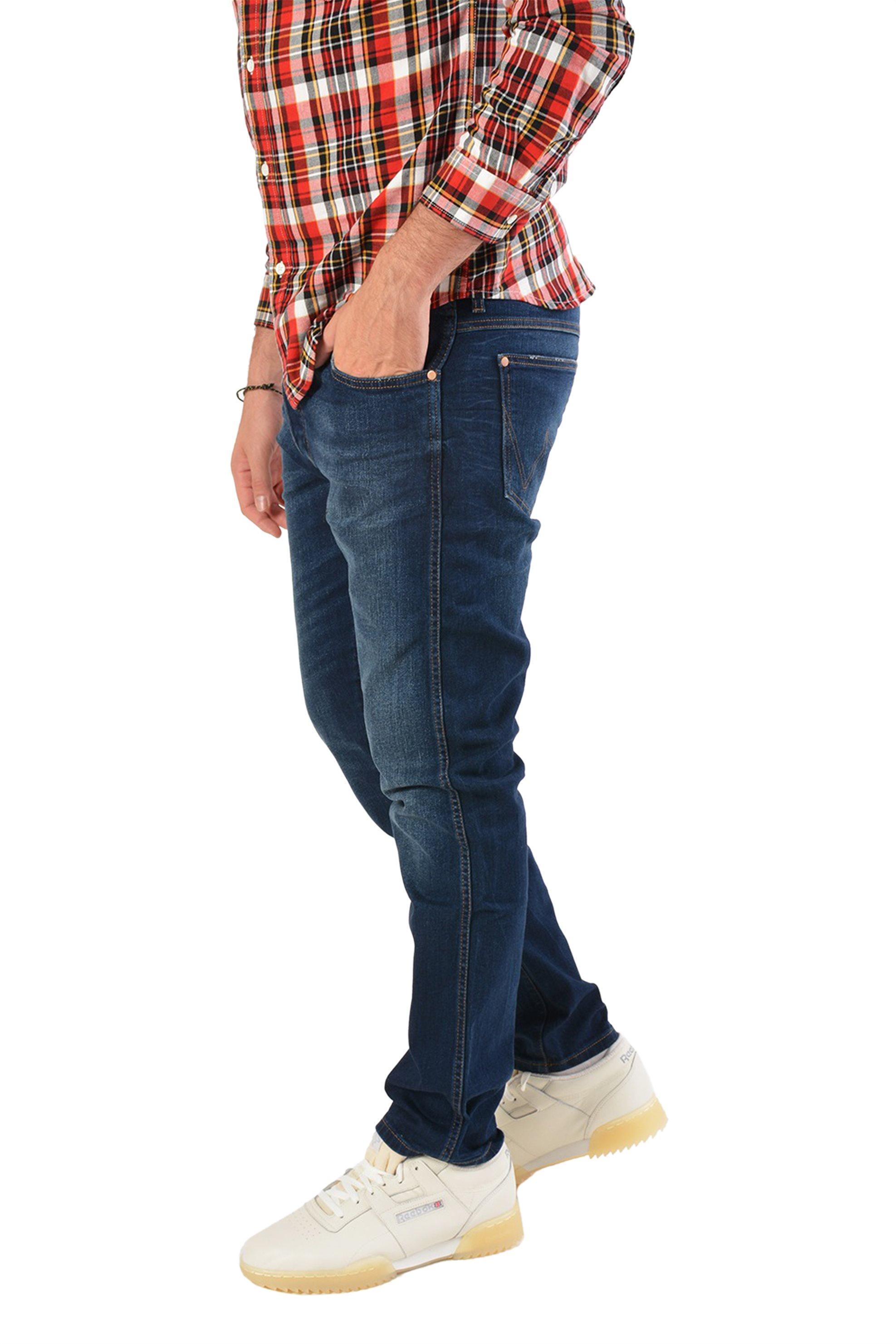 Wrangler ανδρικό τζην παντελόνι Slider Sin Bin - W18RRS24N - Μπλε Σκούρο ανδρασ   ρουχα   jeans   tapered