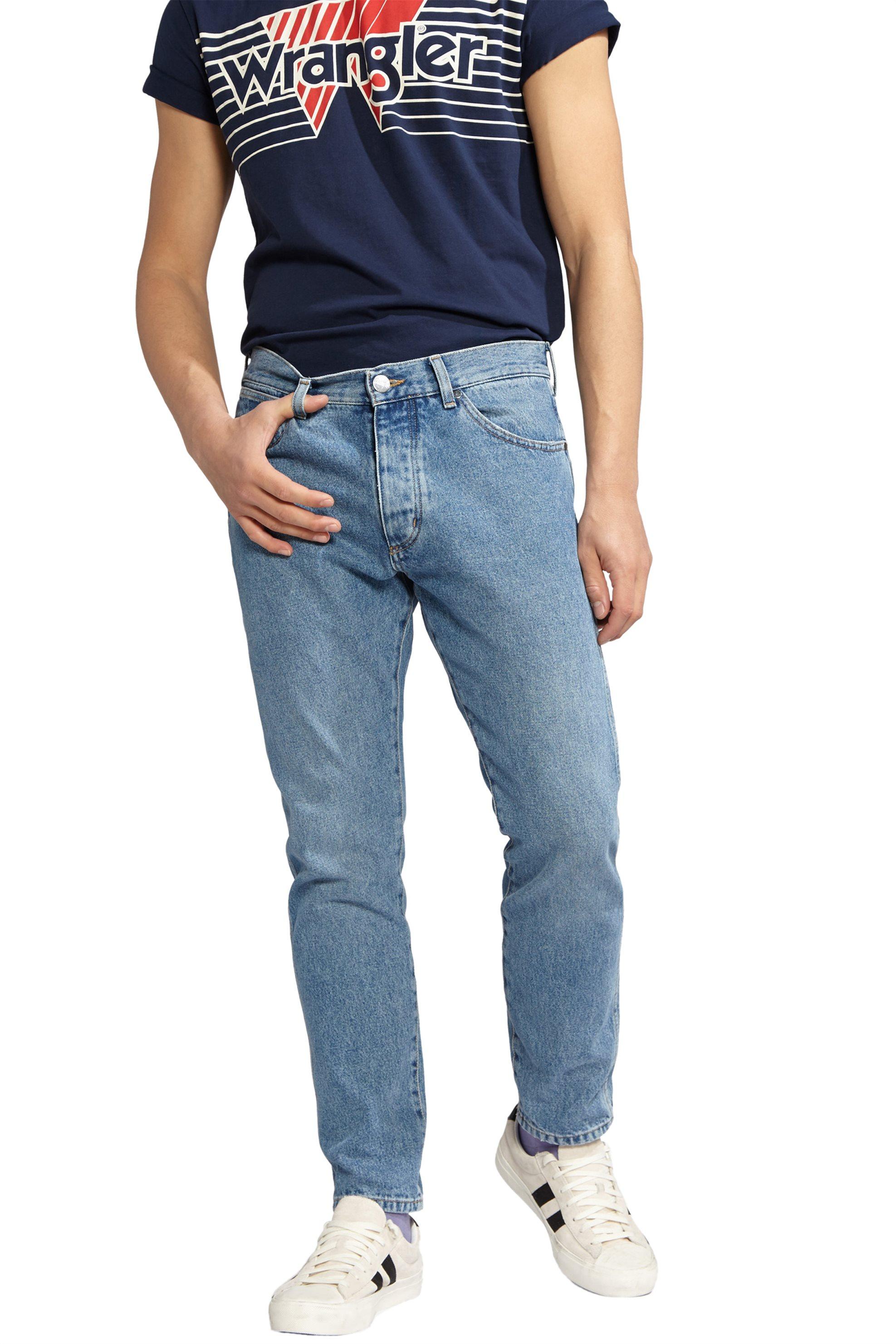 Wrangler ανδρικό τζην παντελόνι Slider Stone Blue - W18RER255 - Γαλάζιο ανδρασ   ρουχα   jeans   tapered
