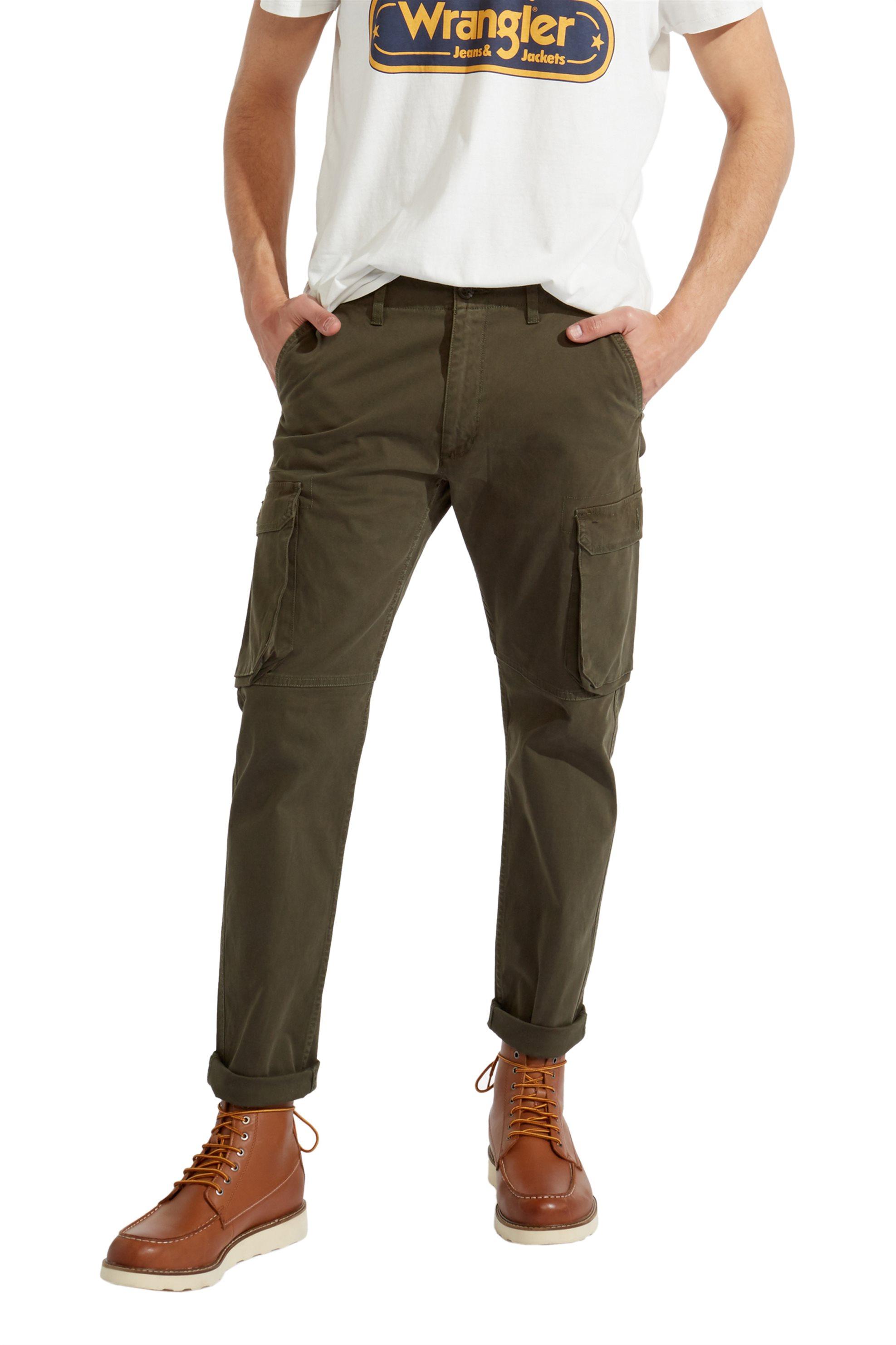 Wrangler ανδρικό παντελόνι Cargo Olive Green  - W15ESC226 - Λαδί ανδρασ   ρουχα   παντελόνια   cargo