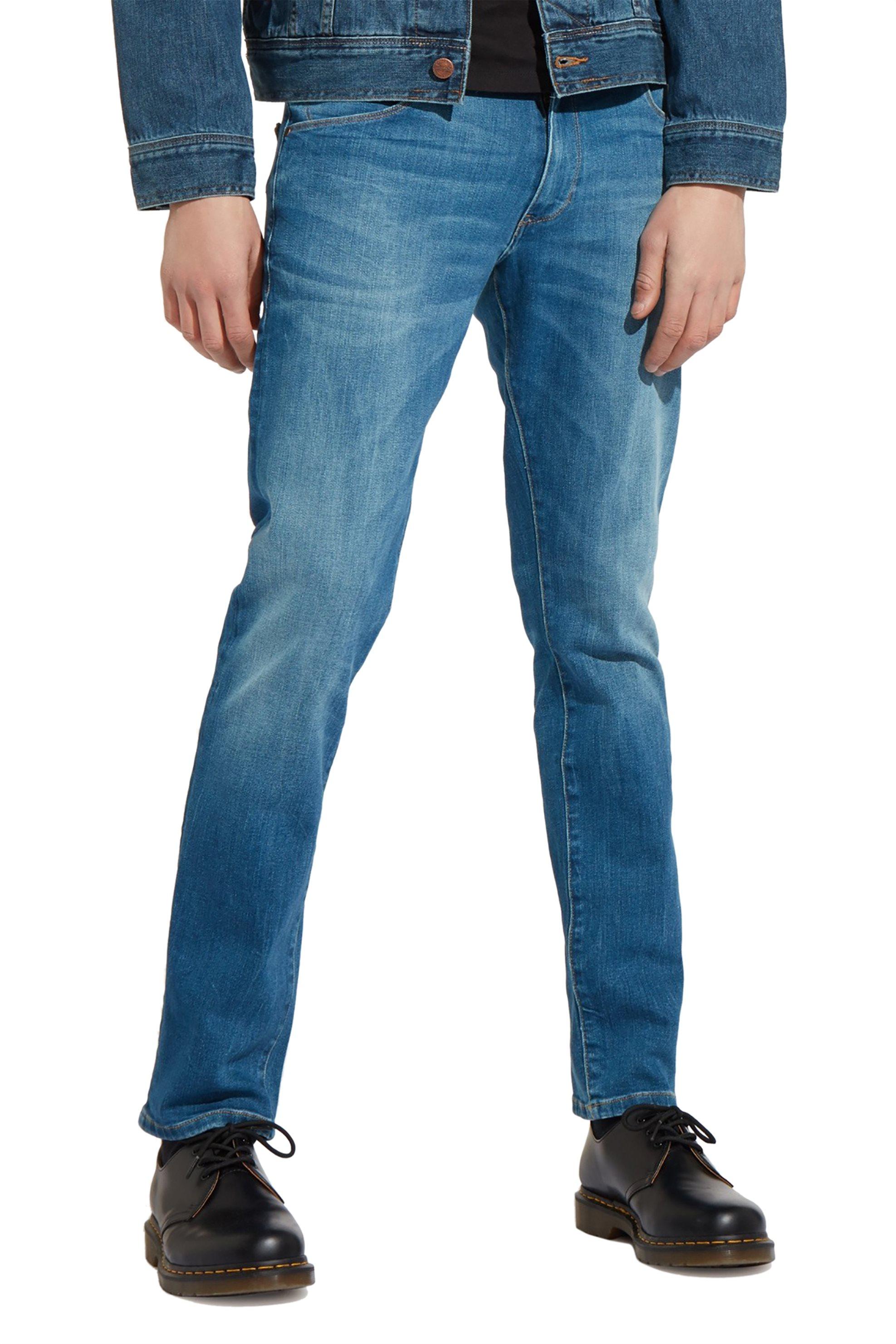 Wrangler ανδρικό τζην παντελόνι Larston Far Green - W18S99029 - Μπλε ανδρασ   ρουχα   jeans   tapered