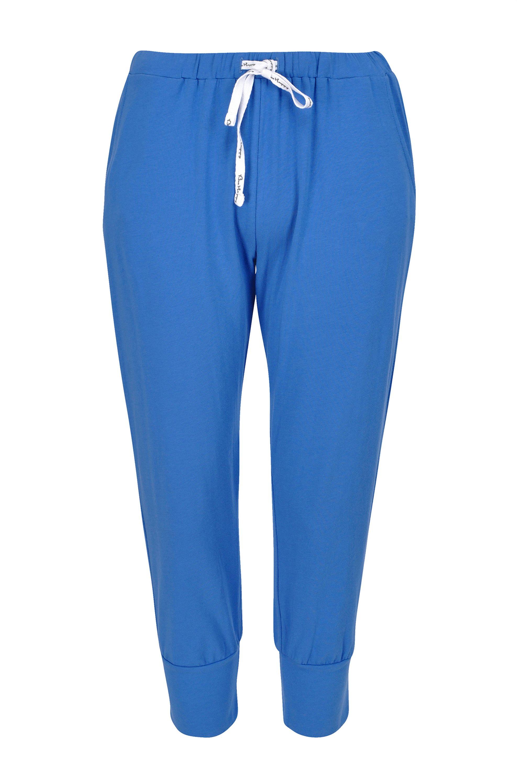 Rösch γυναικείο παντελόνι πιτζάμας μονόχρωμο με τσέπες - 2173353 - Μπλε Ηλεκτρίκ