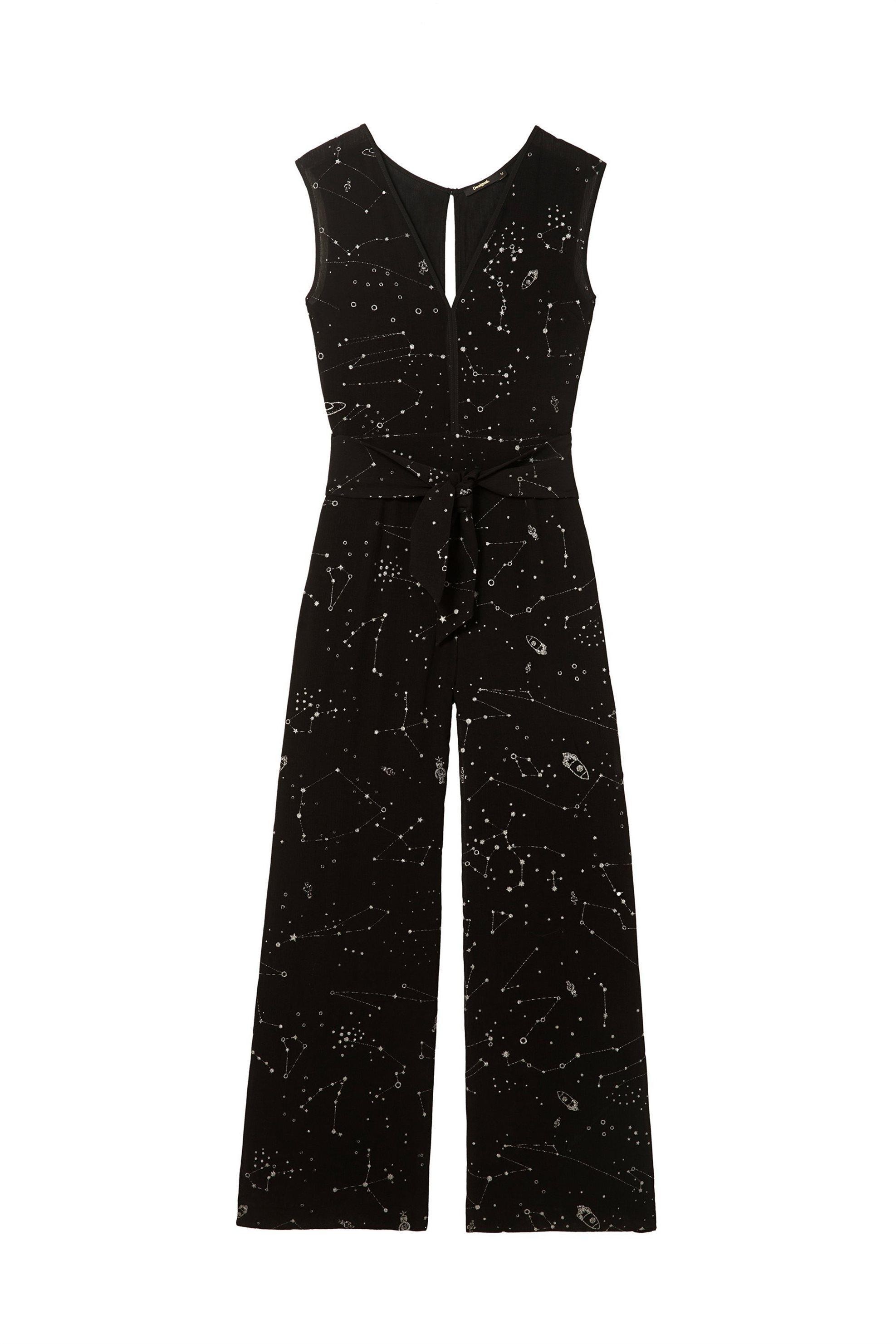 Γυναικεία ολόσωμη φόρμα Donna Desigual - 18SWPW17 - Μαύρο γυναικα   ρουχα   ολόσωμες φόρμες   σαλοπέτες