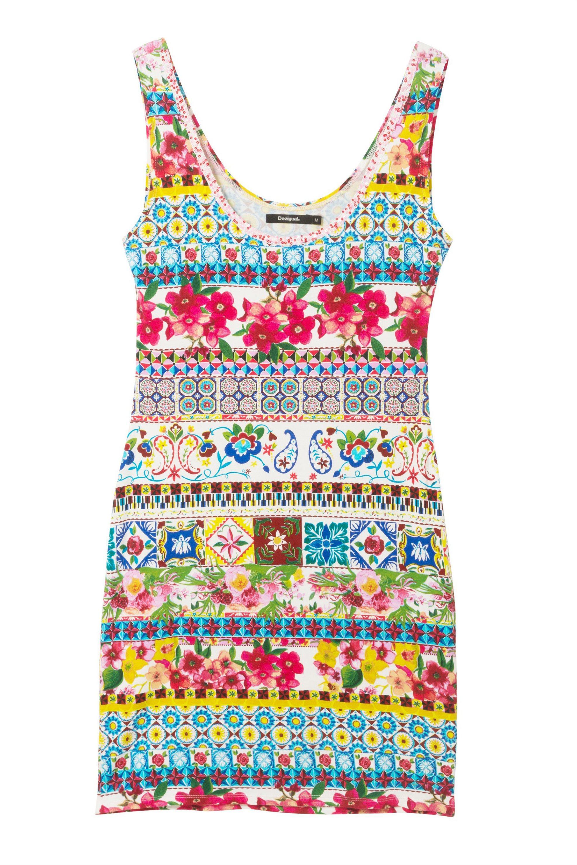 b40b1f05e786 Notos Γυναικείο φόρεμα Luana Desigual - 18SWVK23 - Πολύχρωμο