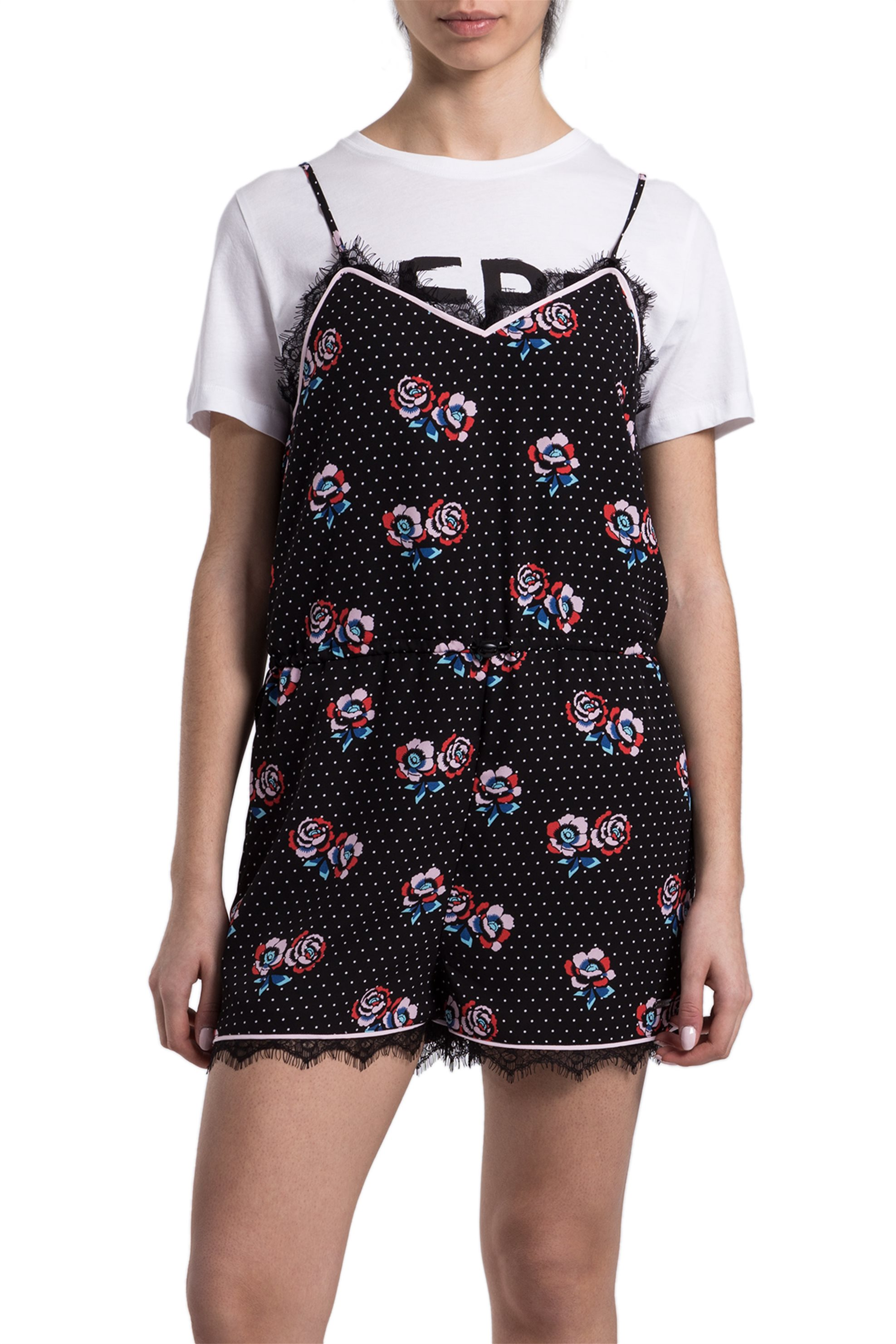 Γυναικεία ολόσωμη φόρμα Pepe Jeans - PL230219 - Μαύρο γυναικα   ρουχα   ολόσωμες φόρμες   σαλοπέτες
