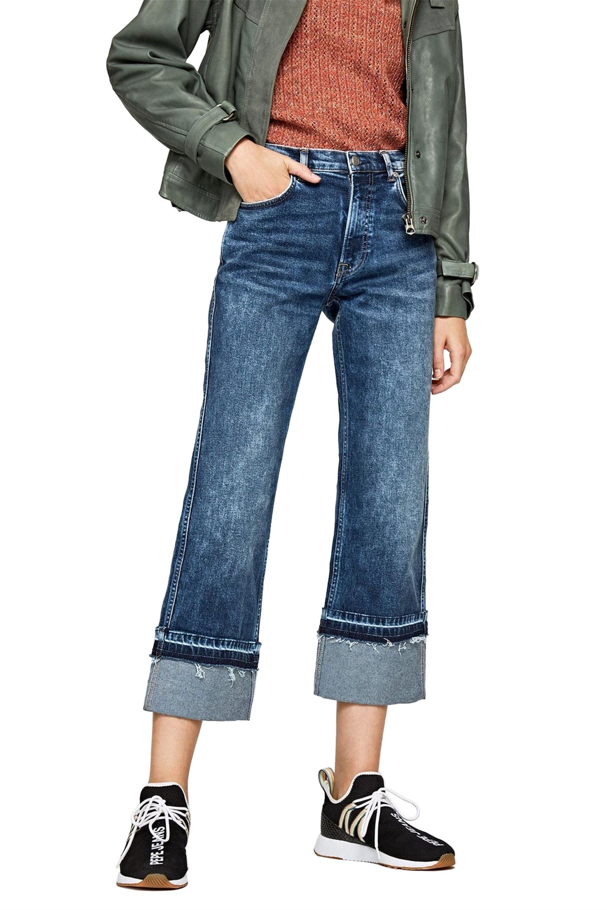 Pepe Jeans γυναικείο τζην παντελόνι Kew Mom Flare - PL202172CP1R - Μπλε γυναικα   ρουχα   jeans   straight