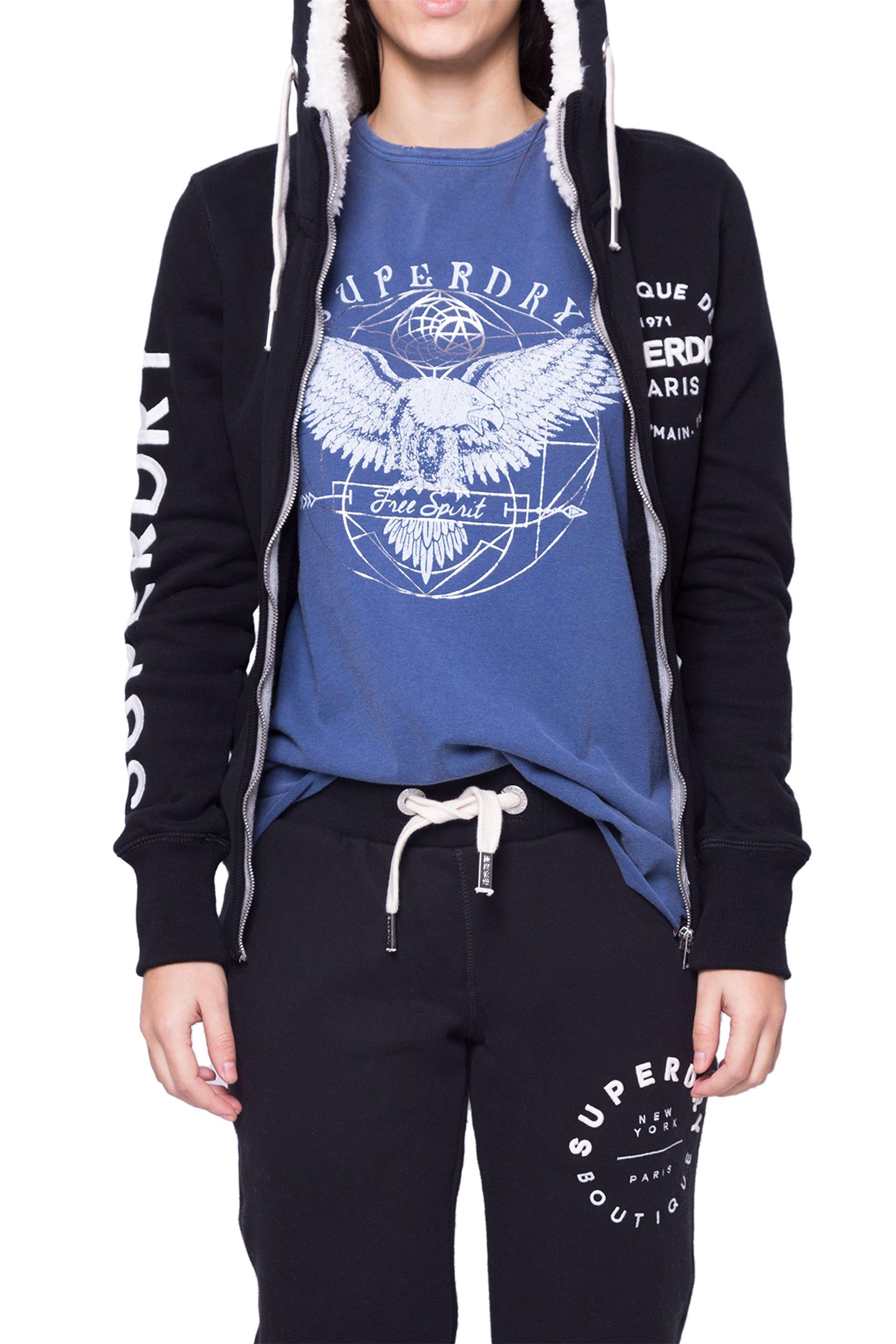 Γυναικεία ζακέτα Superdry - G20018PP - Μαύρο γυναικα   ρουχα   αθλητικα   αθλητικά ρούχα   tops   ζακέτες   μπλούζες   φούτερ