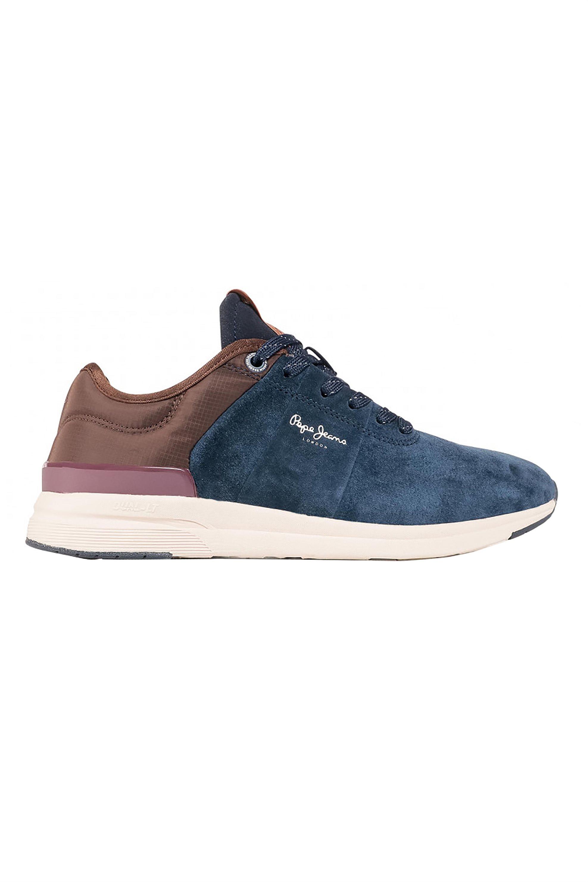 """Pepe Jeans ανδρικά suede sneakers με κορδόνια """"Jayker Street"""" – PMS30638 – Μπλε Σκούρο"""