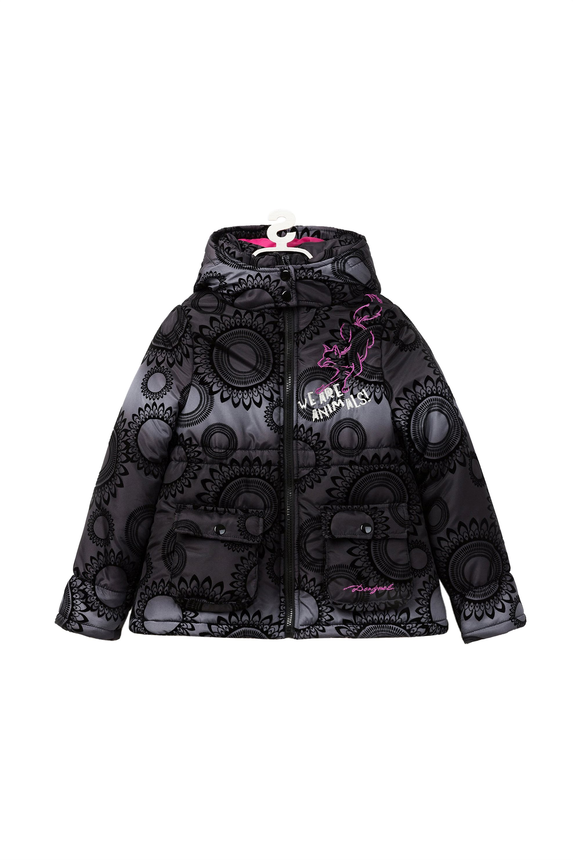 Notos Desigual παιδικό μπουφάν με κουκούλα - 18WGEW15 - Μαύρο 3a0035b0381