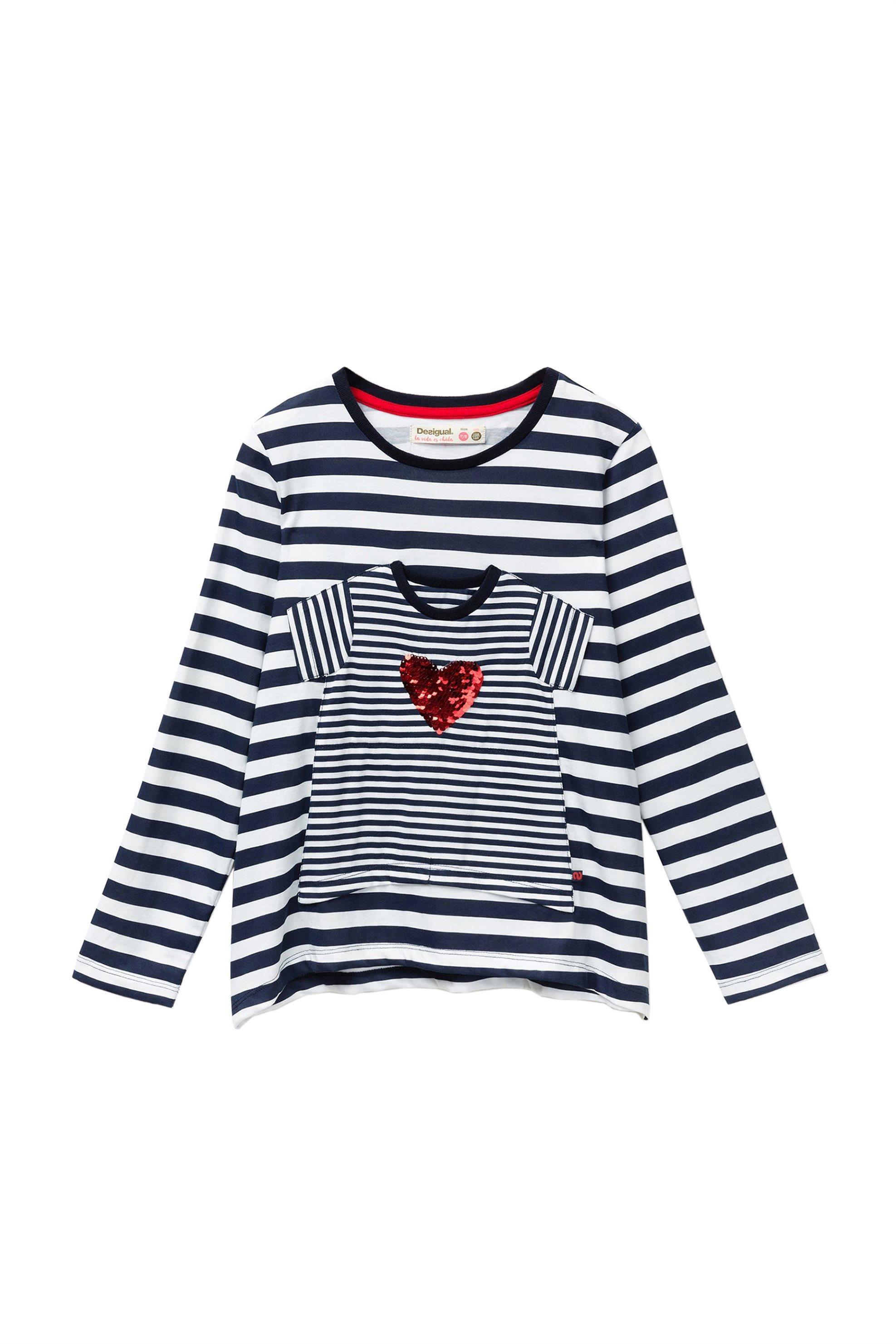 Desigual Παιδική Μπλούζα Sprinfiel - 18WGTK74 - Μπλε Σκούρο