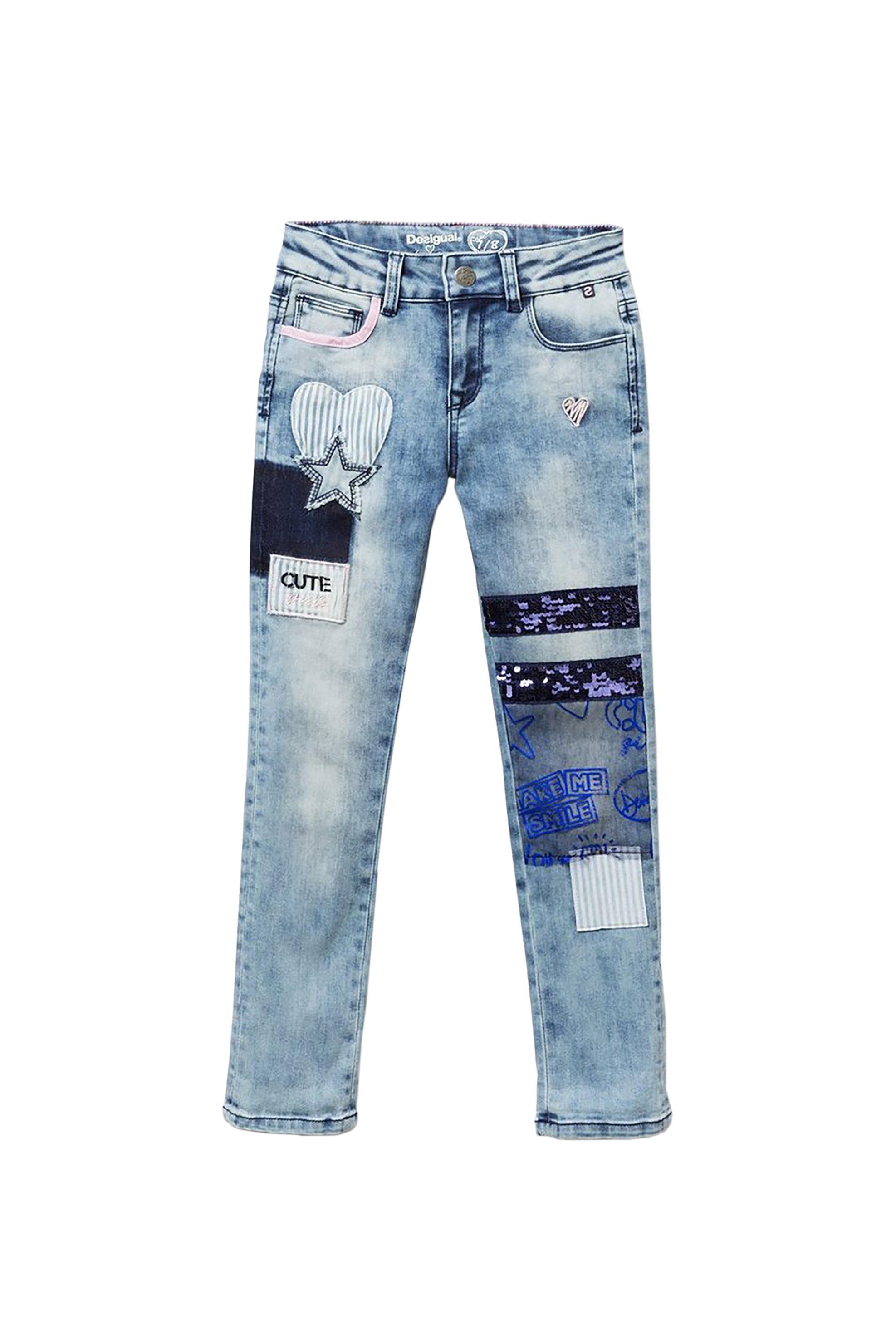 e764caab360 Notos Desigual παιδικό τζην παντελόνι με παγιέτα Αbad - 19SGDD01 - Μπλε  Ανοιχτό