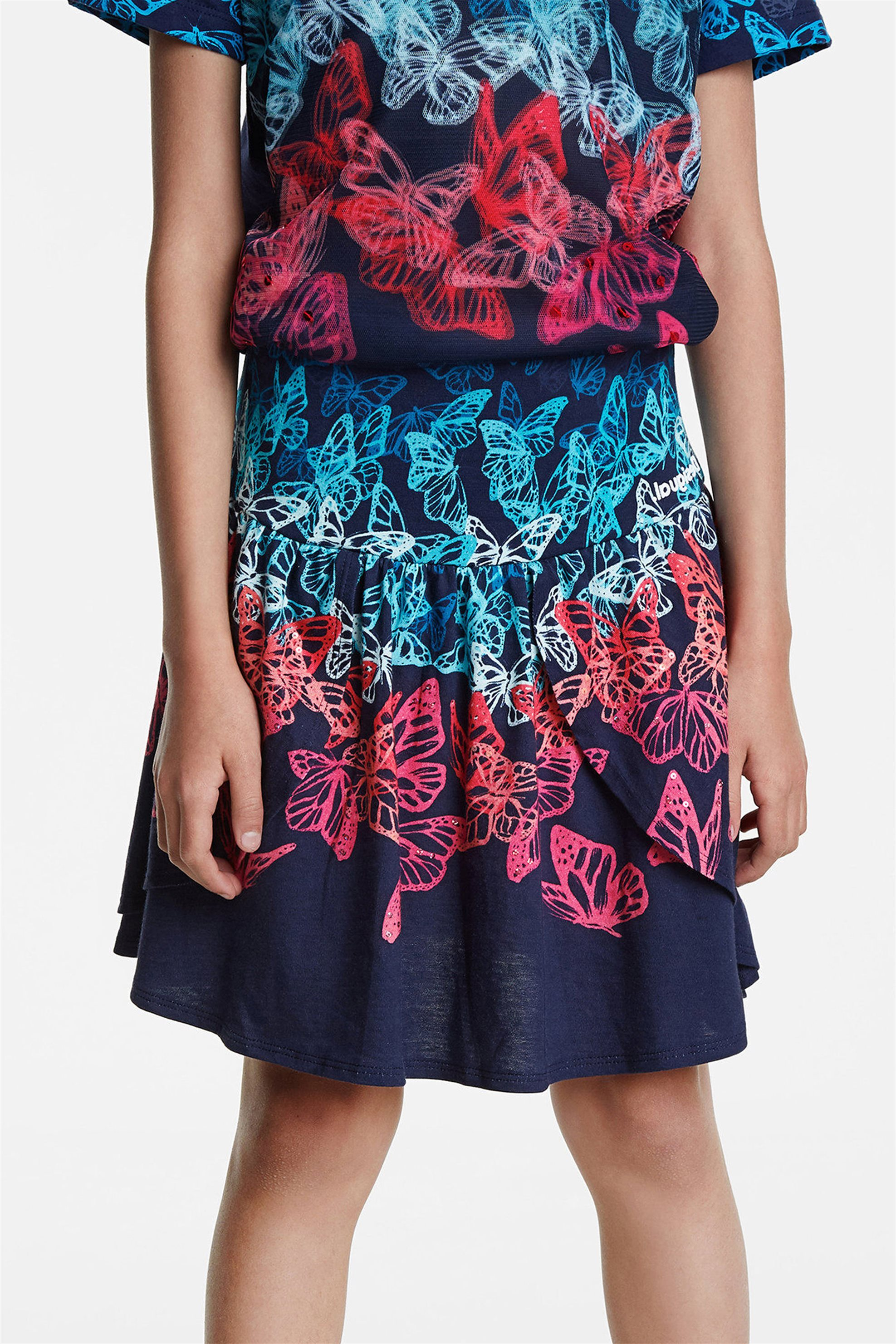 "Desigual παιδική φούστα με πεταλούδες ""Honolulu"" - 20SGFK07 ..."