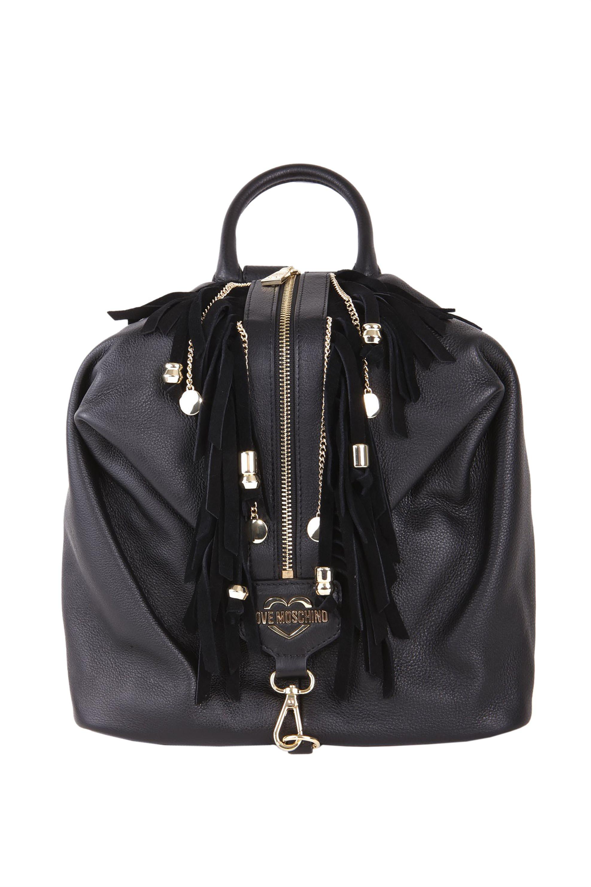 5c4fdcffef Notos Love Moschino γυναικείο backpack με κρόσσια - JC4136PP17LT0 - Μαύρο
