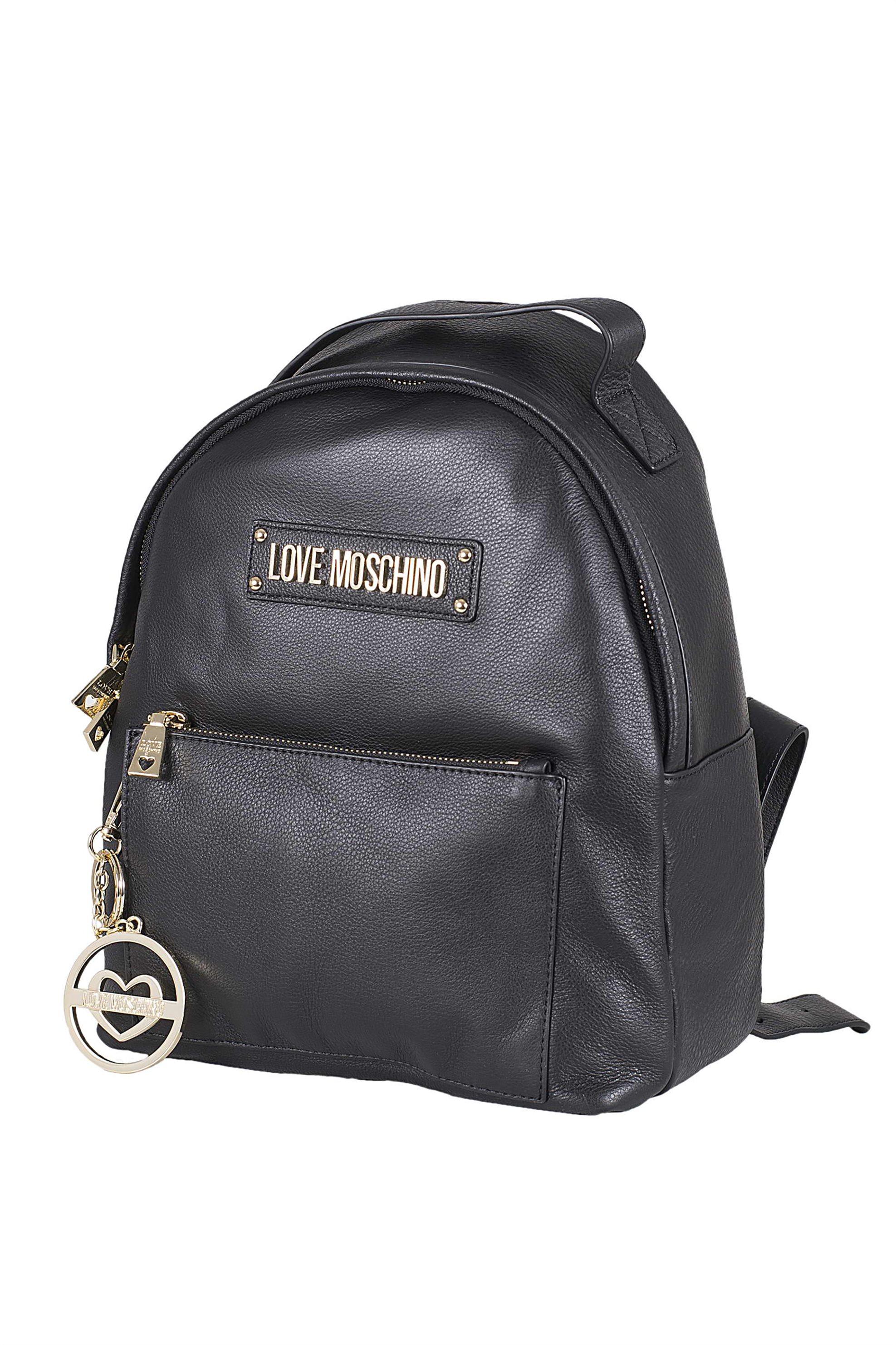 9ced1b8d5d Notos Love Moschino γυναικείο backpack δερμάτινο με μπρελόκ - JC4349PP17L60  - Μαύρο