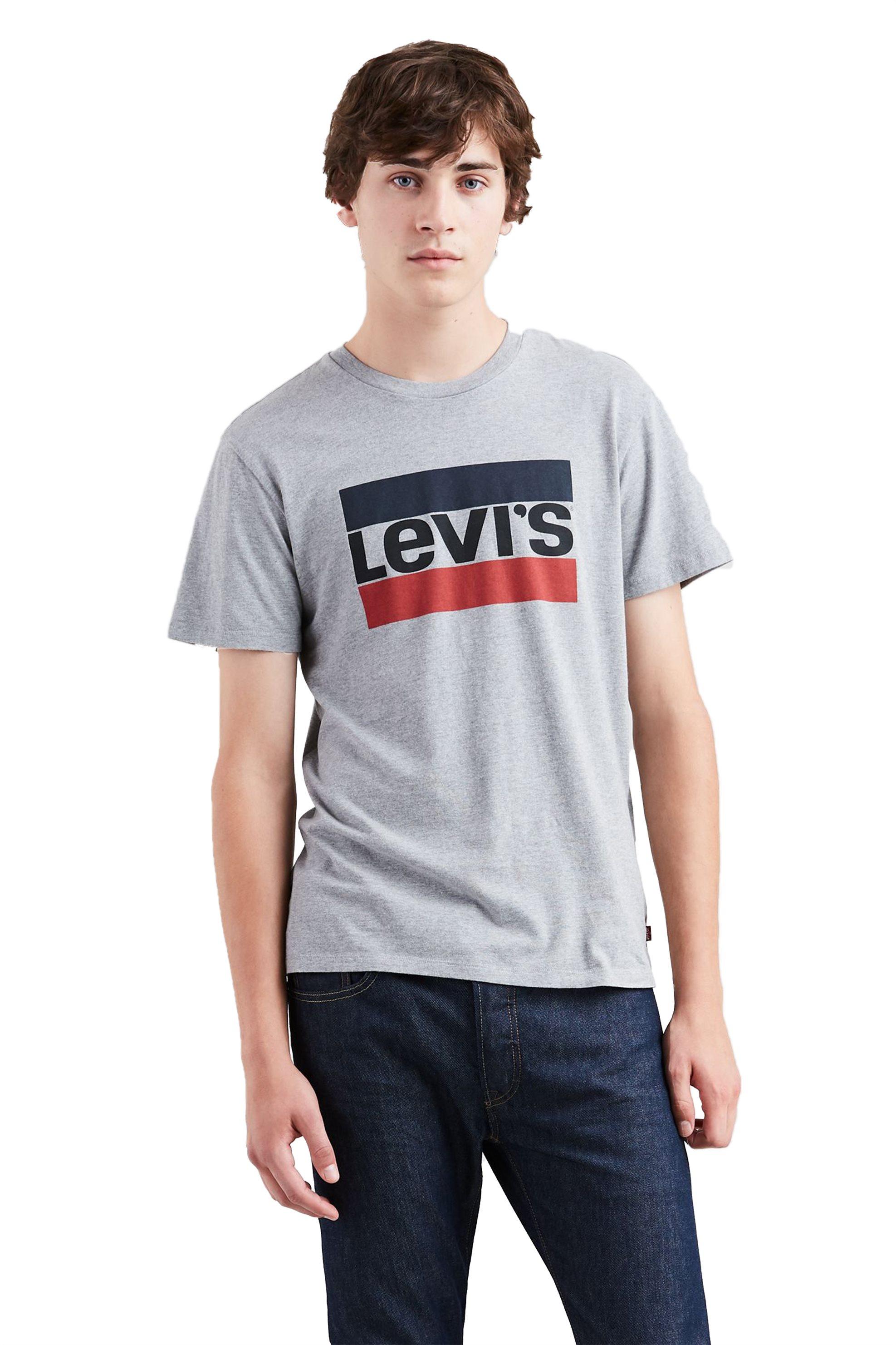 8130023440b7 Levi s ανδρικό γκρι T-shirt με λογότυπο - 3963600-02 - Γκρι
