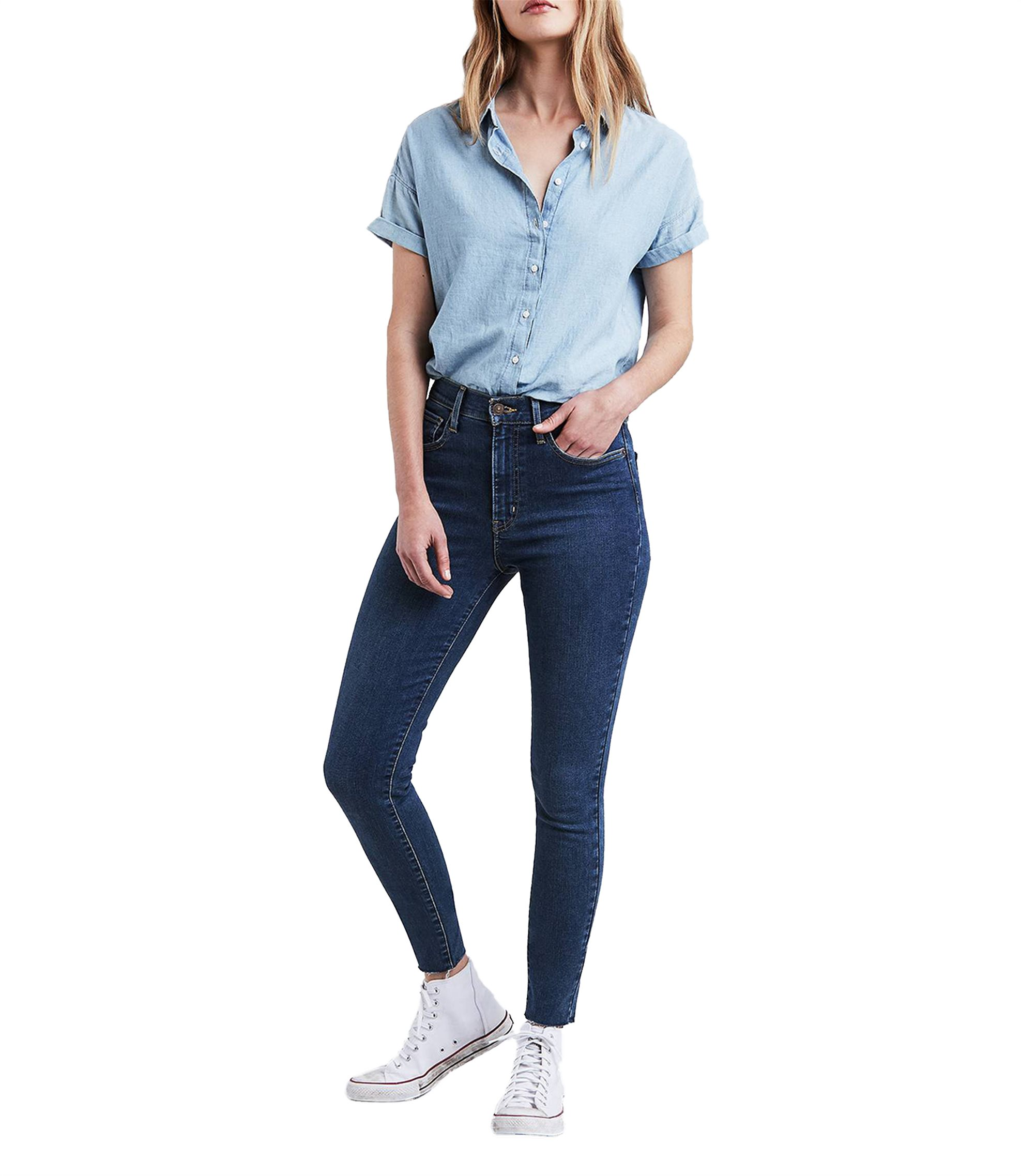 54fba005dde Γυναικείο τζην παντελόνι Mile High Super Skinny Indigo (32L) Levi's -  2279100-37-32 - Μπλε Σκούρο