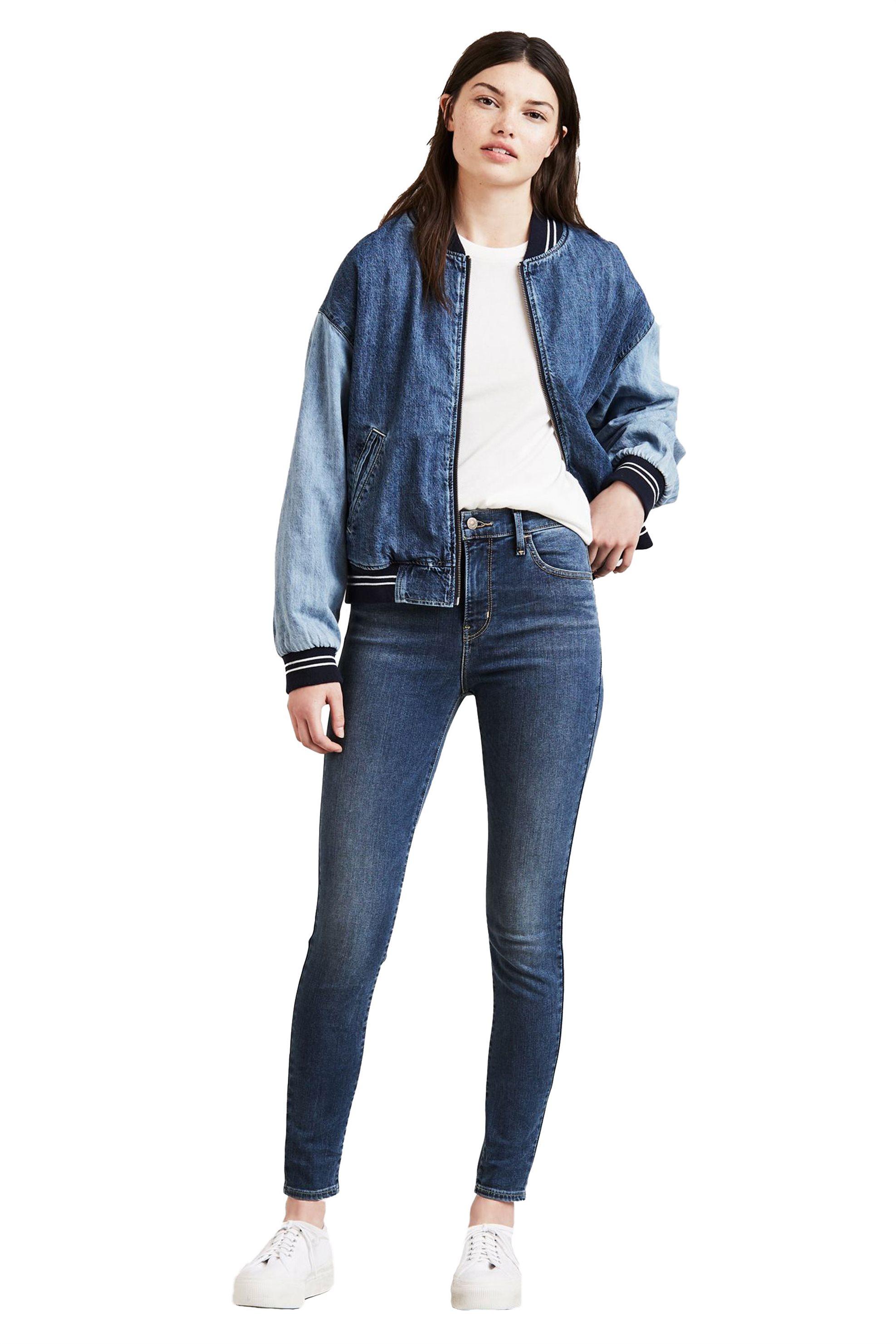 Notos Levi s γυναικείο τζην παντελόνι 720 High Rise Super Skinny (32L) -  5279700-18 76d360ba78d