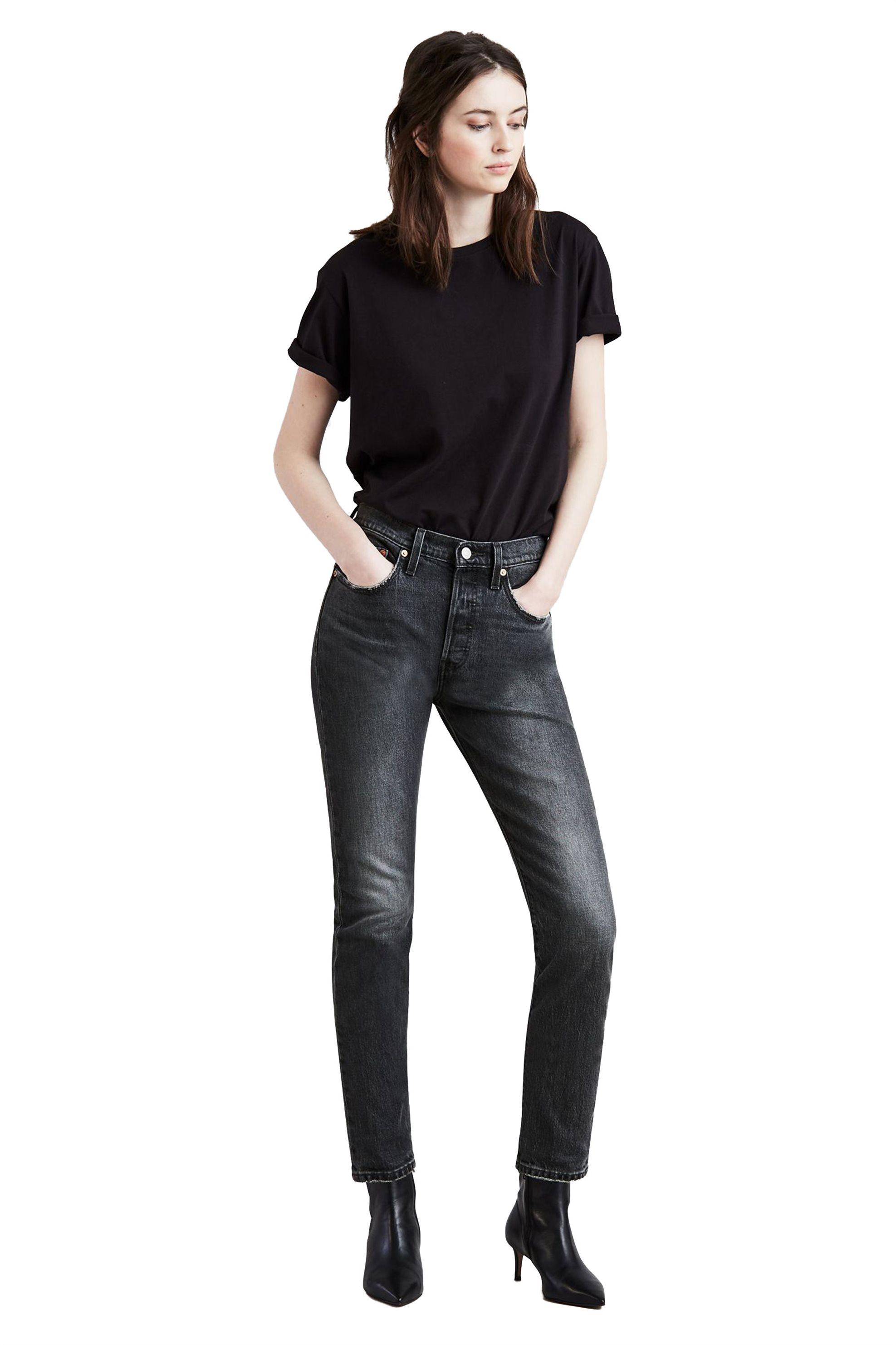 Notos Levi s 501® Skinny γυναικείο τζην παντελόνι Coal Black (30L) -  2950200-63 a746e63dc65