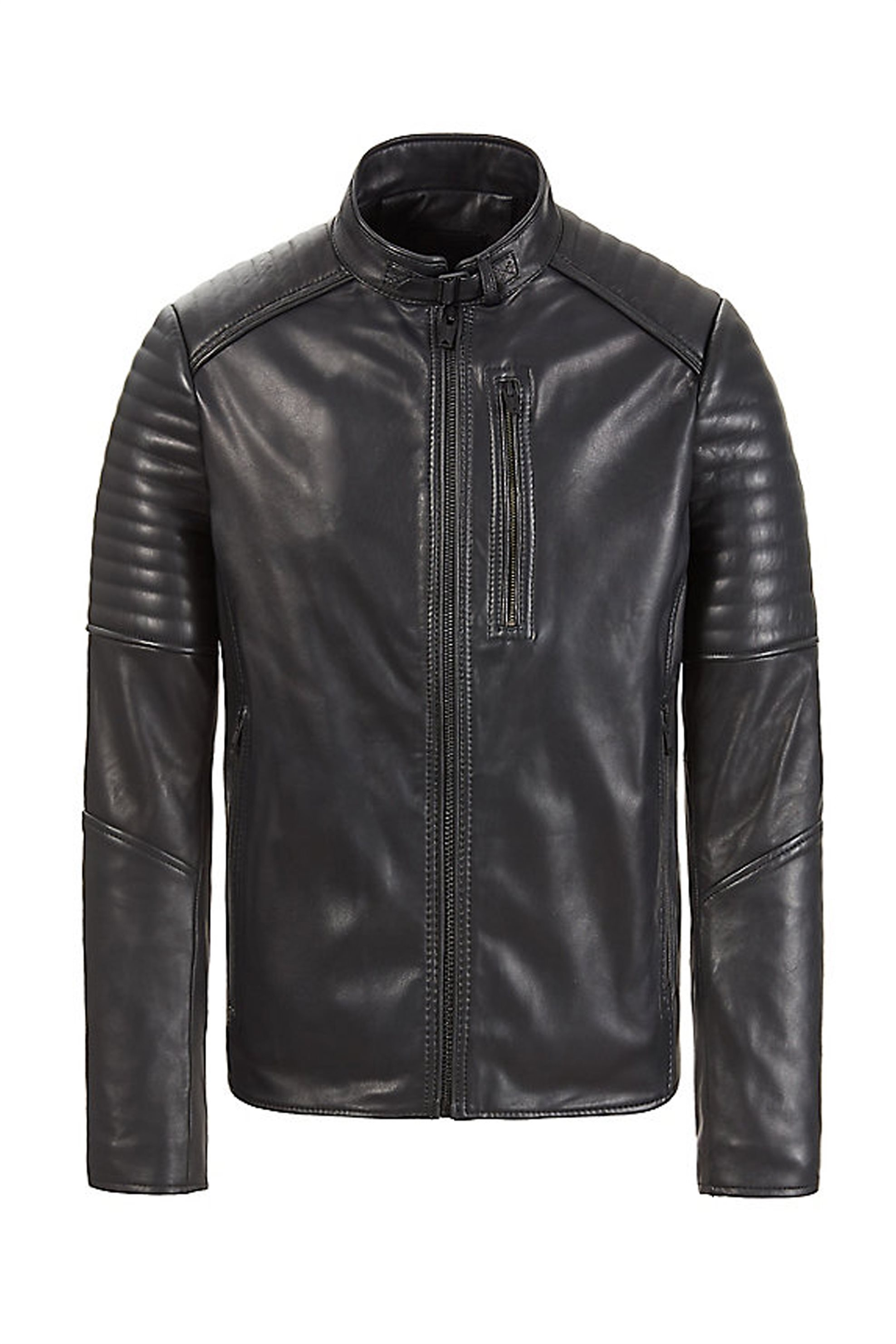 Timberland ανδρικό τζάκετ Leather Cafe Racer - TB0A1MYT0011 - Μαύρο ανδρασ   ρουχα   παλτό   μπουφάν   δερμάτινα