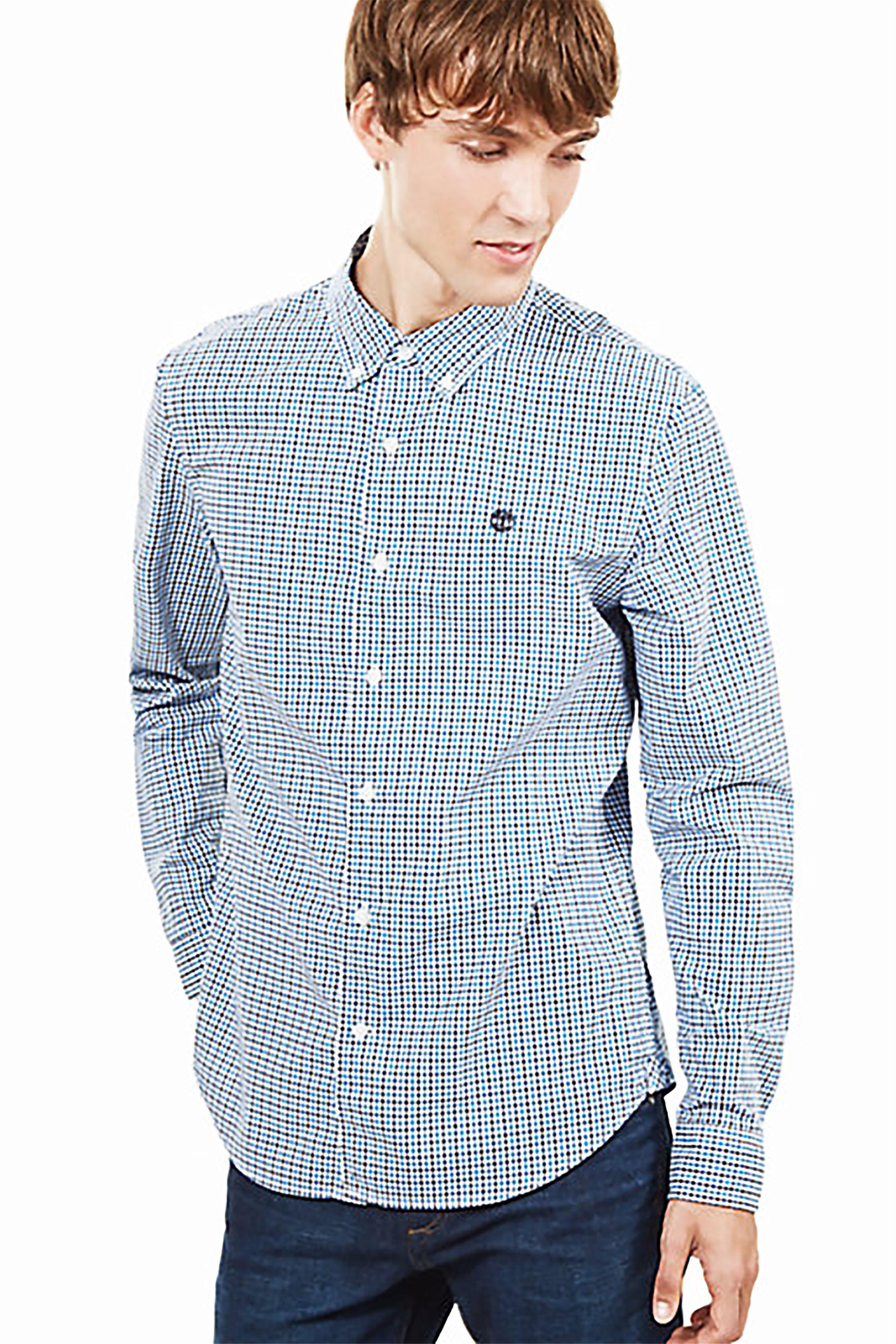 7b46c5af756b Notos Timberland ανδρικό καρό πουκάμισο Suncook - TB0A1ML2M781 - Γαλάζιο