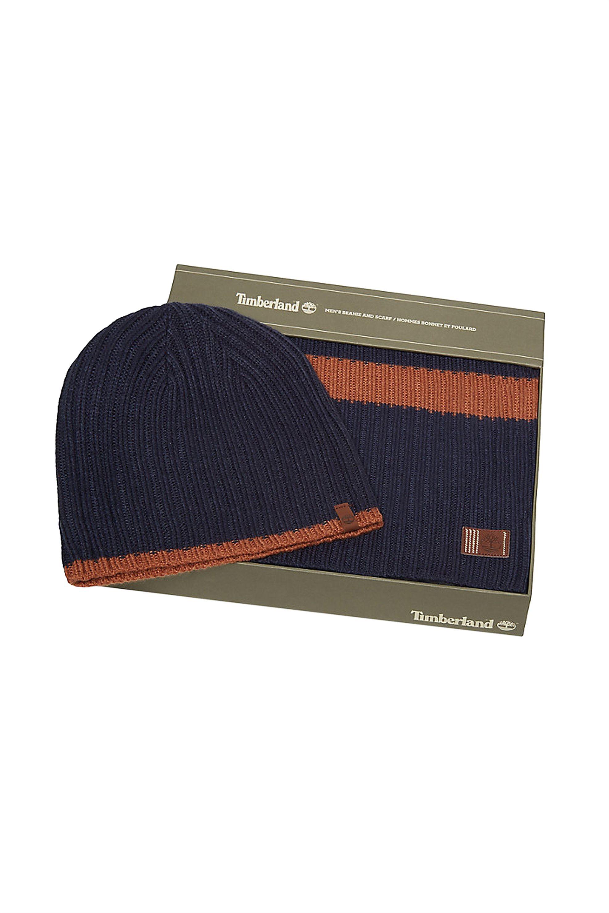 Timberland ανδρικό σετ σκούφος και κασκόλ Ripped Stripe - TB0A1EH7TB91 - Μπλε Σκ ανδρασ   αξεσουαρ   κασκόλ   μαντήλια    καπέλα   σκούφοι