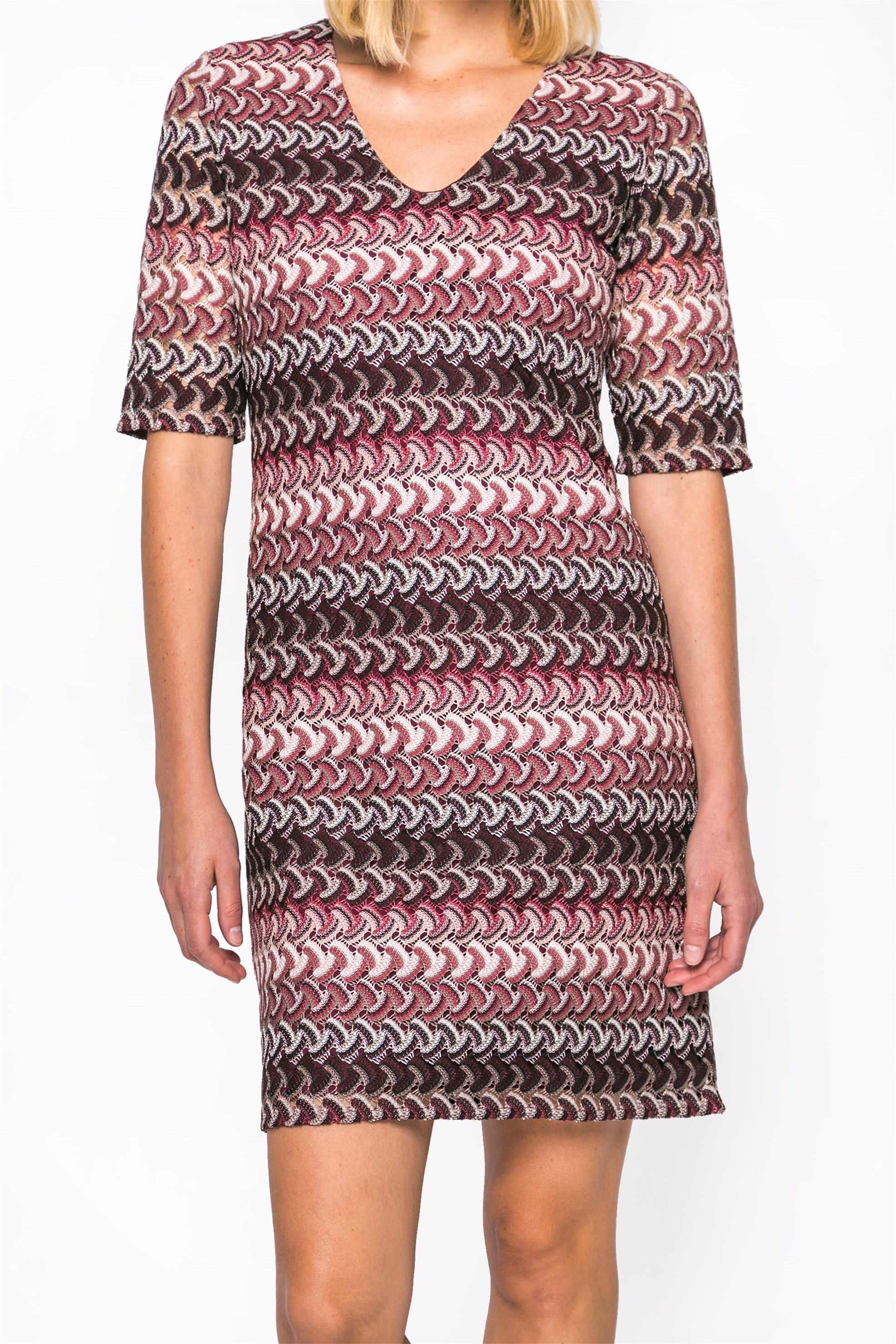 Γυναικείο φόρεμα Gerry Weber - 680901-35012 - Πολύχρωμο γυναικα   ρουχα   φορέματα   midi φορέματα