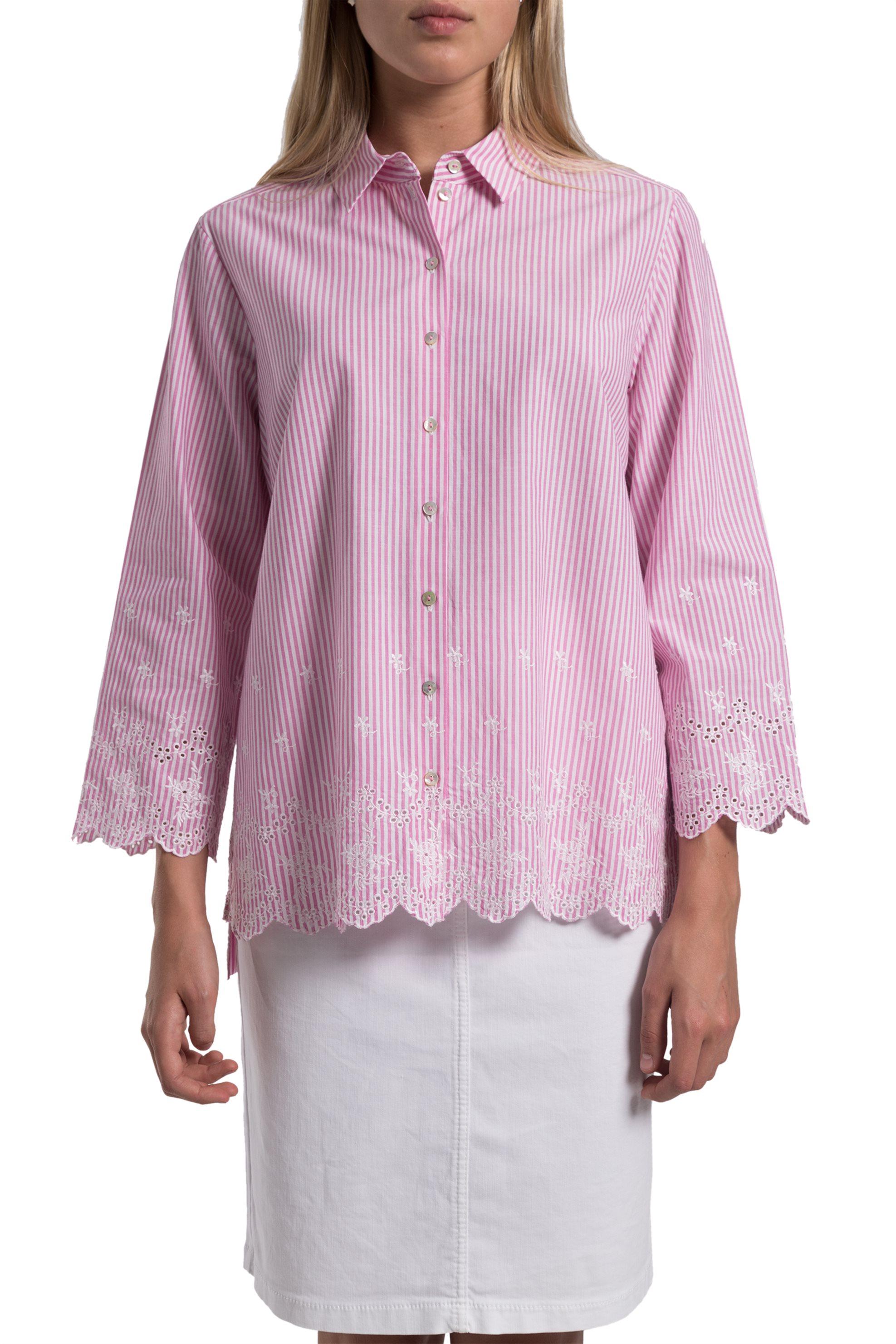 59fcaf32430b Γυναικεία   Ρούχα   Πουκάμισα   Λινό γυναικείο πουκάμισο με τσέπες ...
