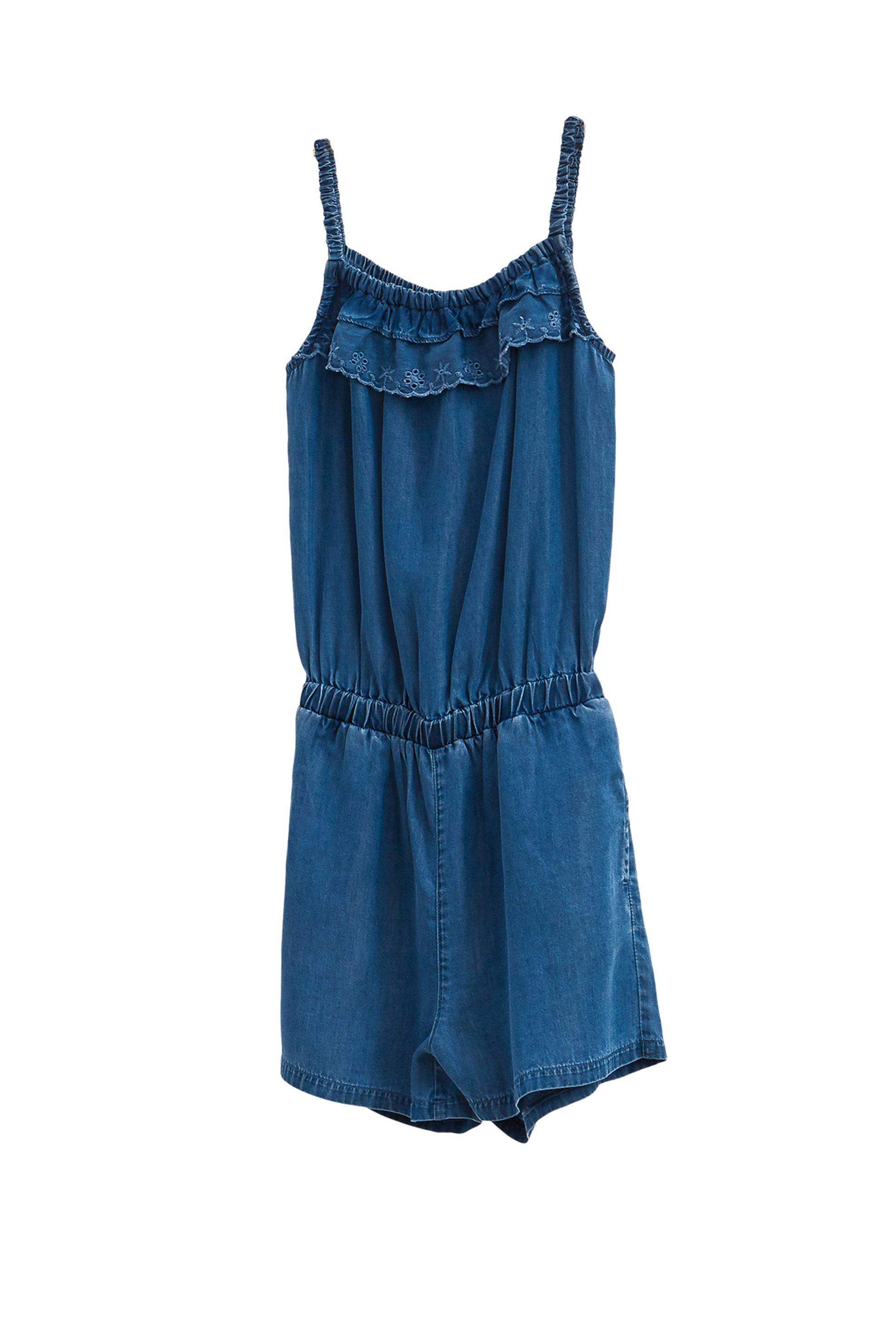Παιδική ολόσωμη φόρμα σορτς με δαντέλα κοφτή (9-14 ετών) OVS - 000249440 - Μπλε παιδι   κοριτσι   4 14 ετων   tops   παντελόνια   σαλοπέτες