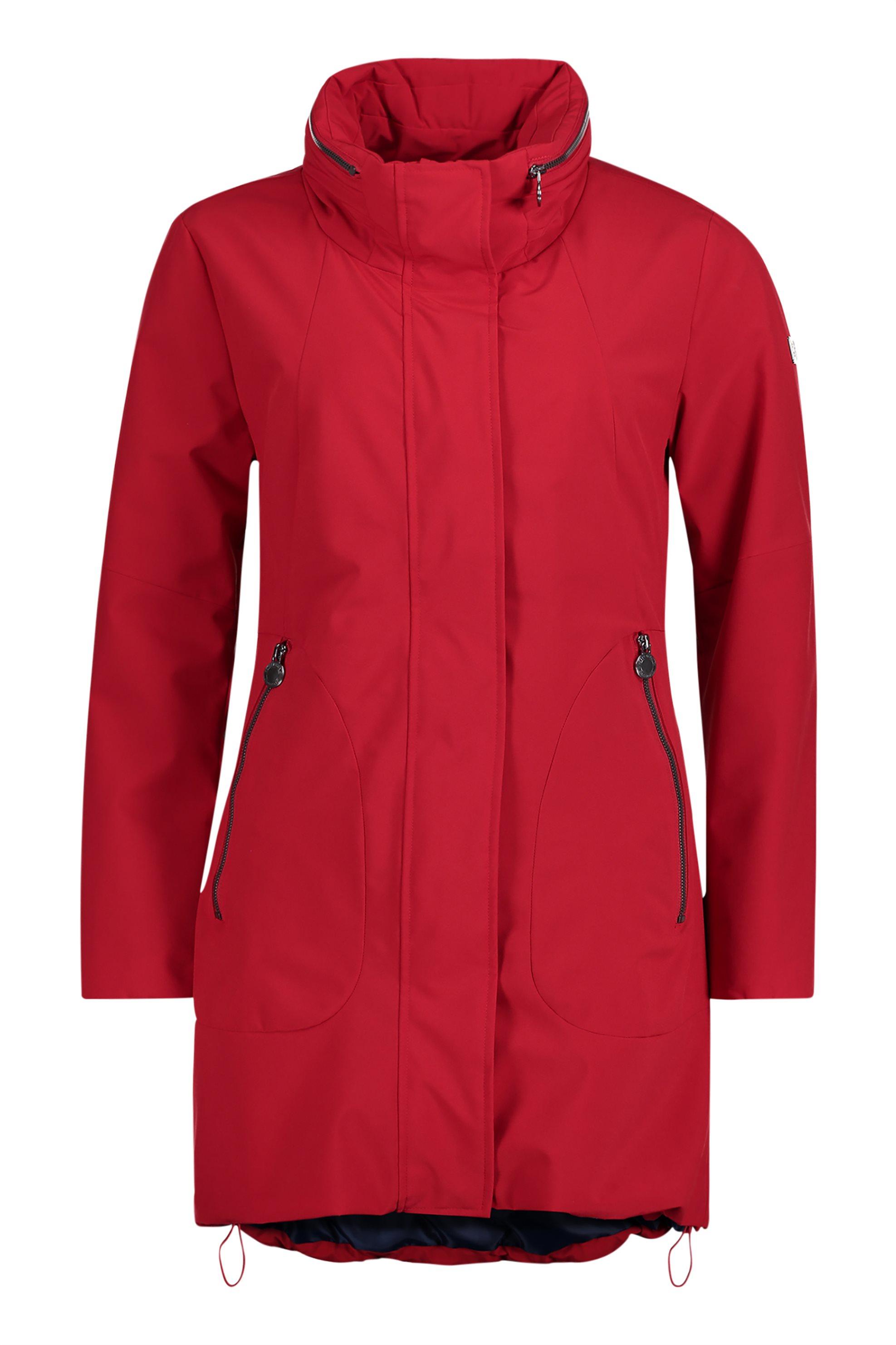 ae24dd3cc4 Notos Betty Barclay γυναικείο μπουφάν με φερμουάρ - 4313  2619 - Κόκκινο