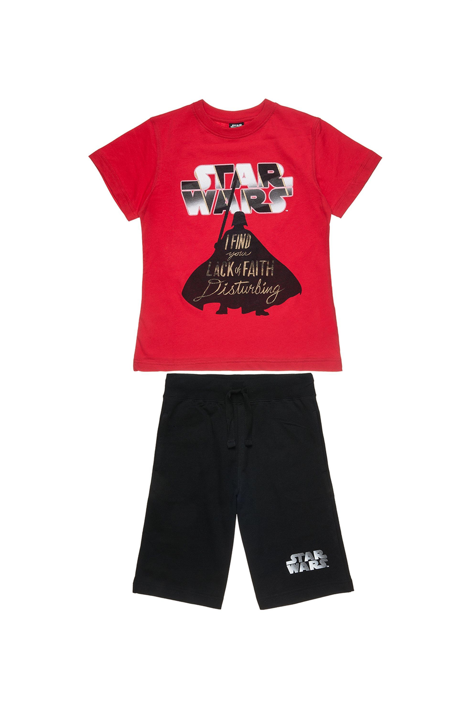 Παιδικό σετ T-shirt και βερμούδα (6-14 ετών) Star Wars Collection - 00170333 - Κ