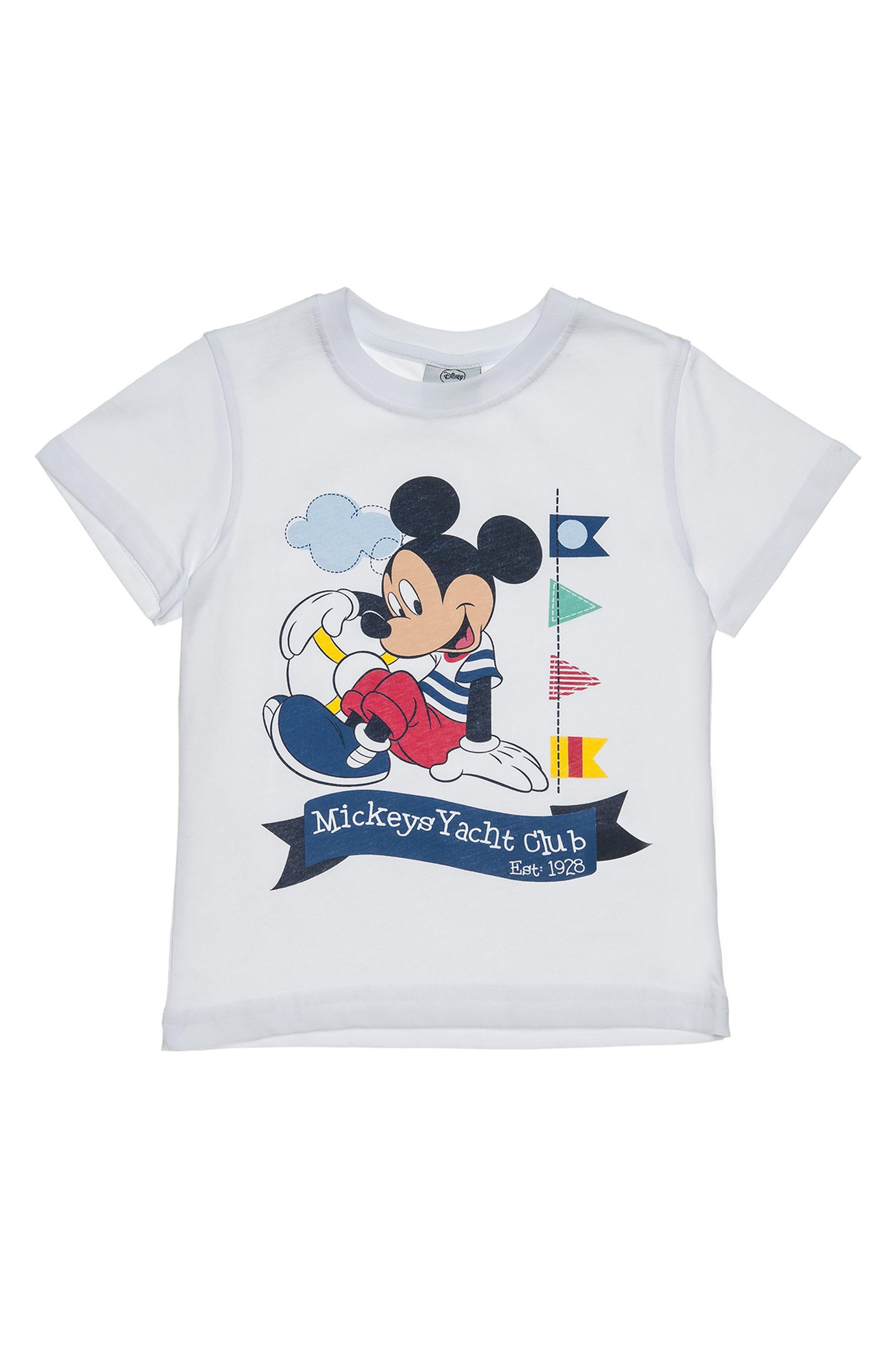 Παιδικό T-shirt μονόχρωμο Mickey Mouse Disney - 00350705 - Λευκό παιδι   βρεφικα αγορι   0 3 ετων   αγορι   4 14 ετων   ρούχα   μπλουζάκια   παντ