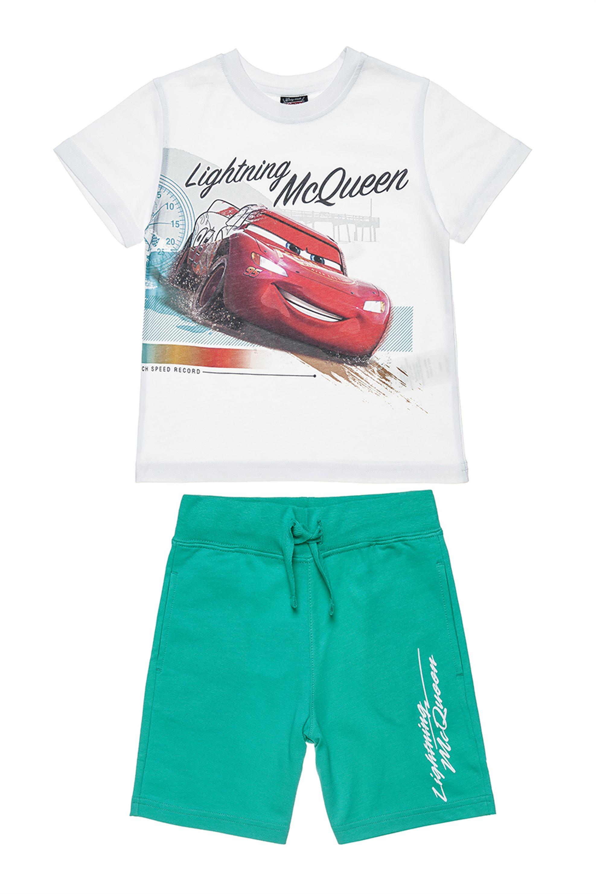 09cef165026 Αlouette παιδικό σετ T-shirt με τύπωμα και βερμούδα Disney Cars McQueen (2-