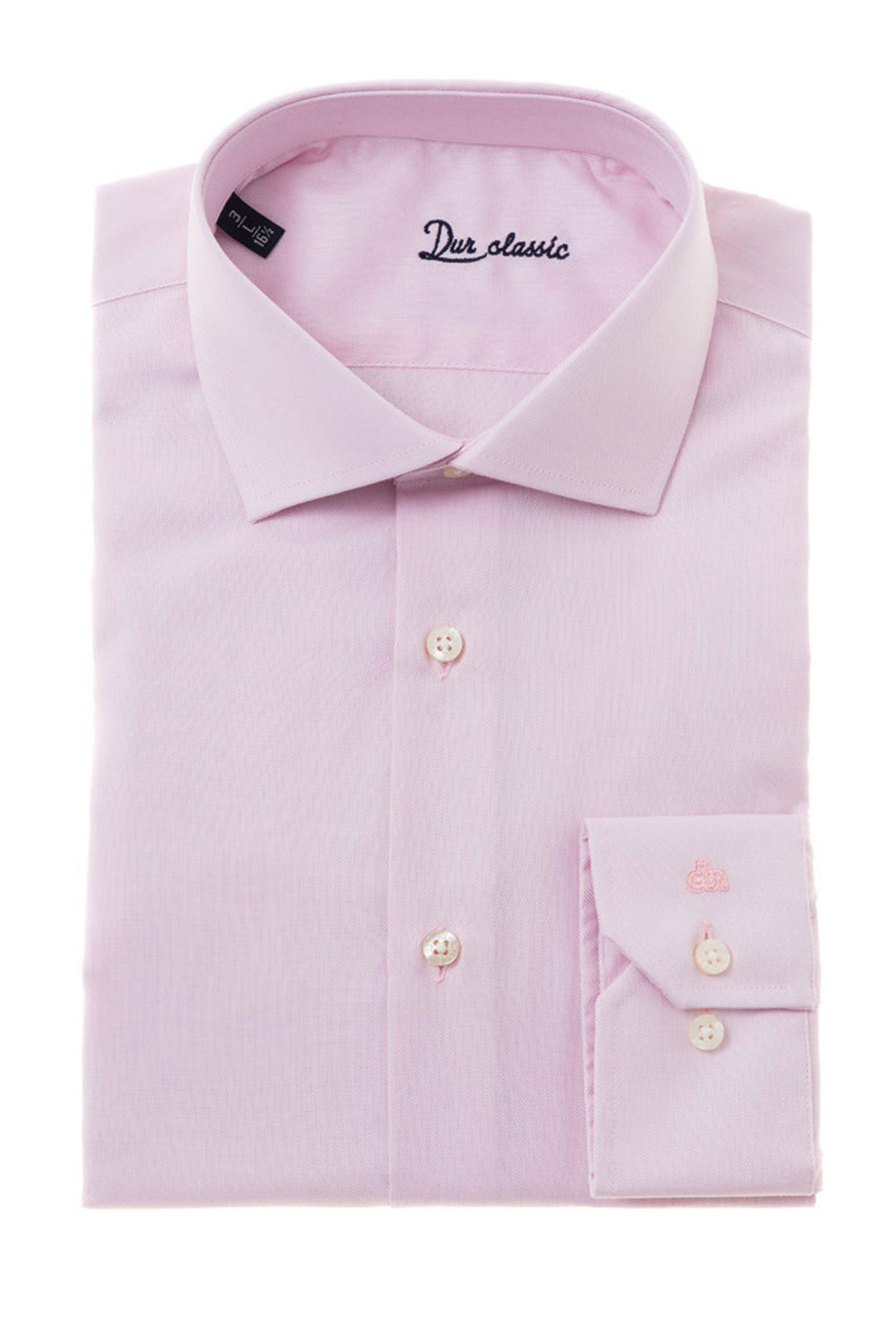 00cb2f649196 Dur ανδρικό πουκάμισο Oxford - 10000046 - Ροζ