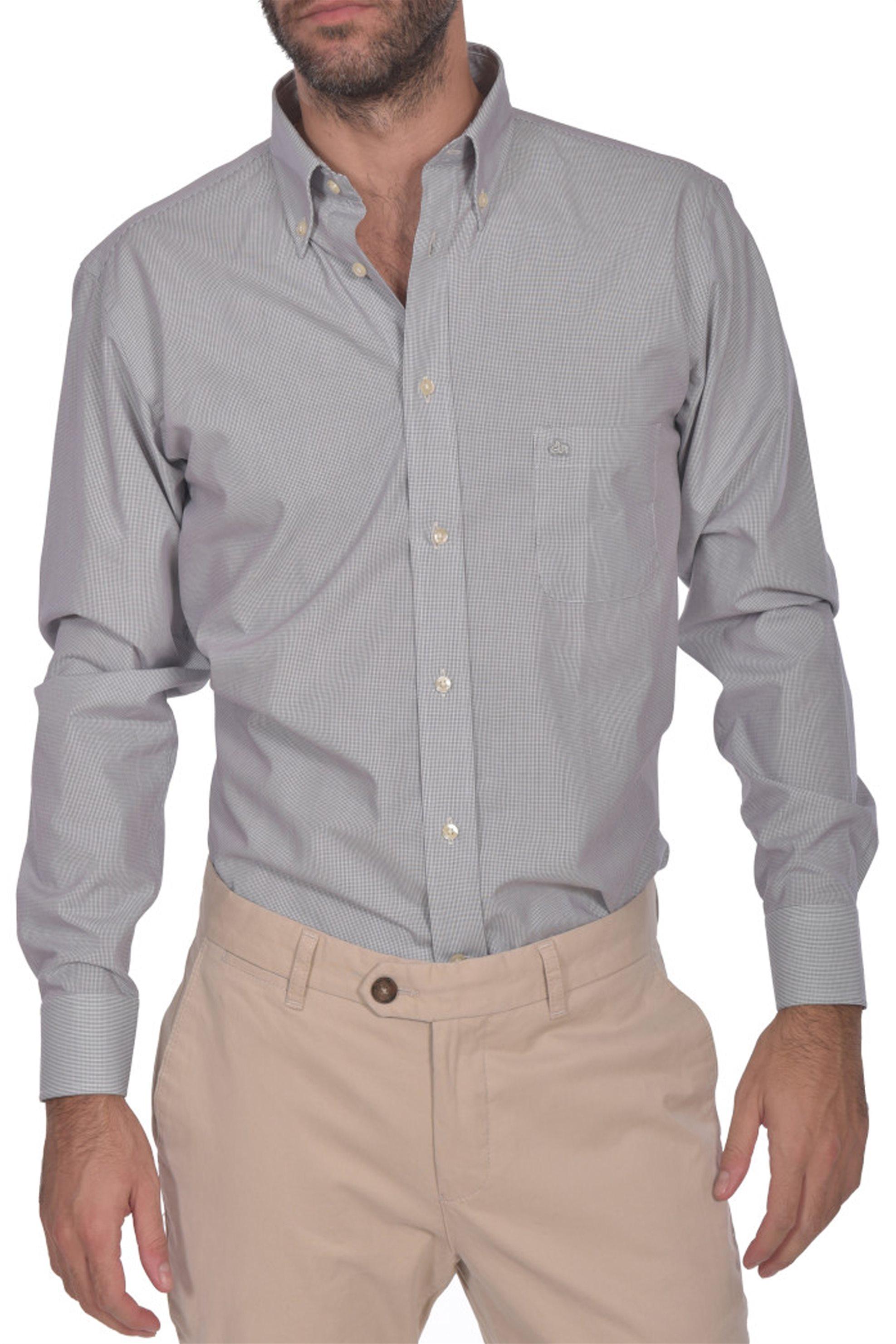 f65f6bf8c2eb Notos Dur ανδρικό πουκάμισο ριγέ button down Regular fit - 10210043 - Γκρι