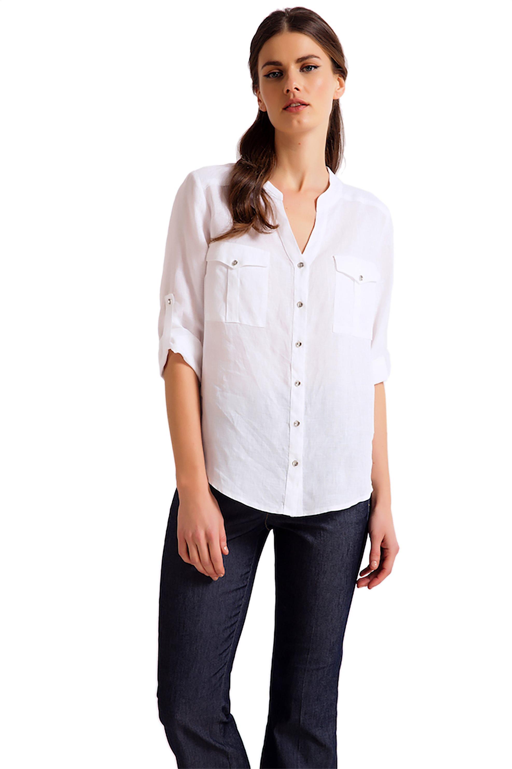 192e8c45f5c9 Γυναικεία   Ρούχα   Πουκάμισα   Πουκάμισο άσπρο μαύρο γυναικείο ...