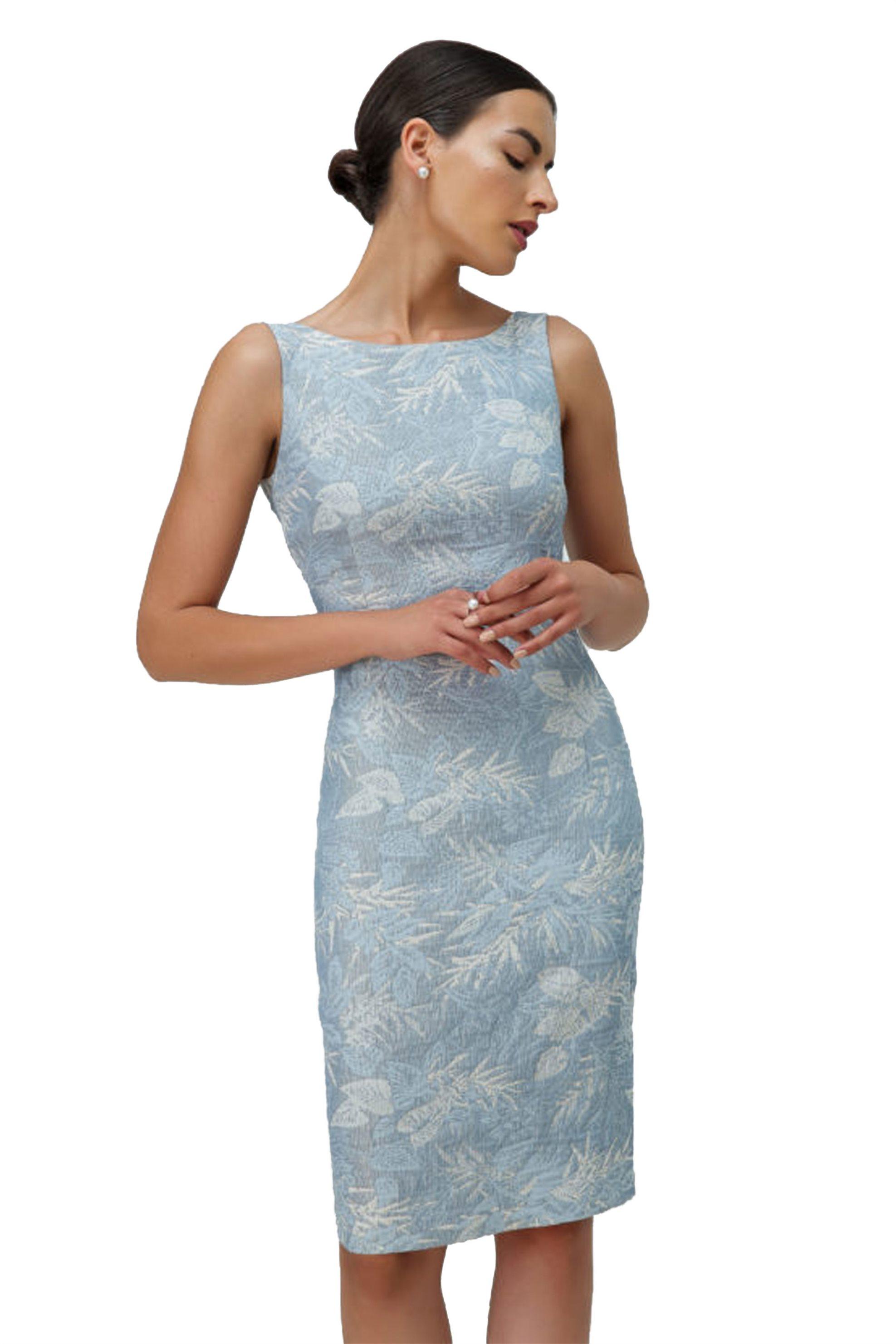 Billy Sabbado γυναικείο φόρεμα μίντι γαλάζιο αμάνικο - 0104930653 - Γαλάζιο γυναικα   ρουχα   φορέματα   midi φορέματα