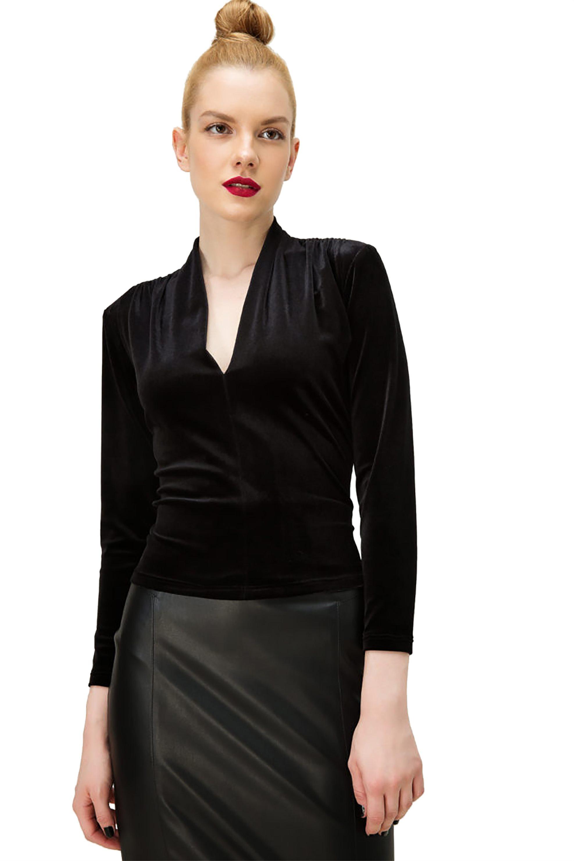 Billy Sabbado γυναικεία μπλούζα με δαντέλα στην πλάτη - 0103261961 - Μαύρο γυναικα   ρουχα   tops   μπλούζες   βραδυνές