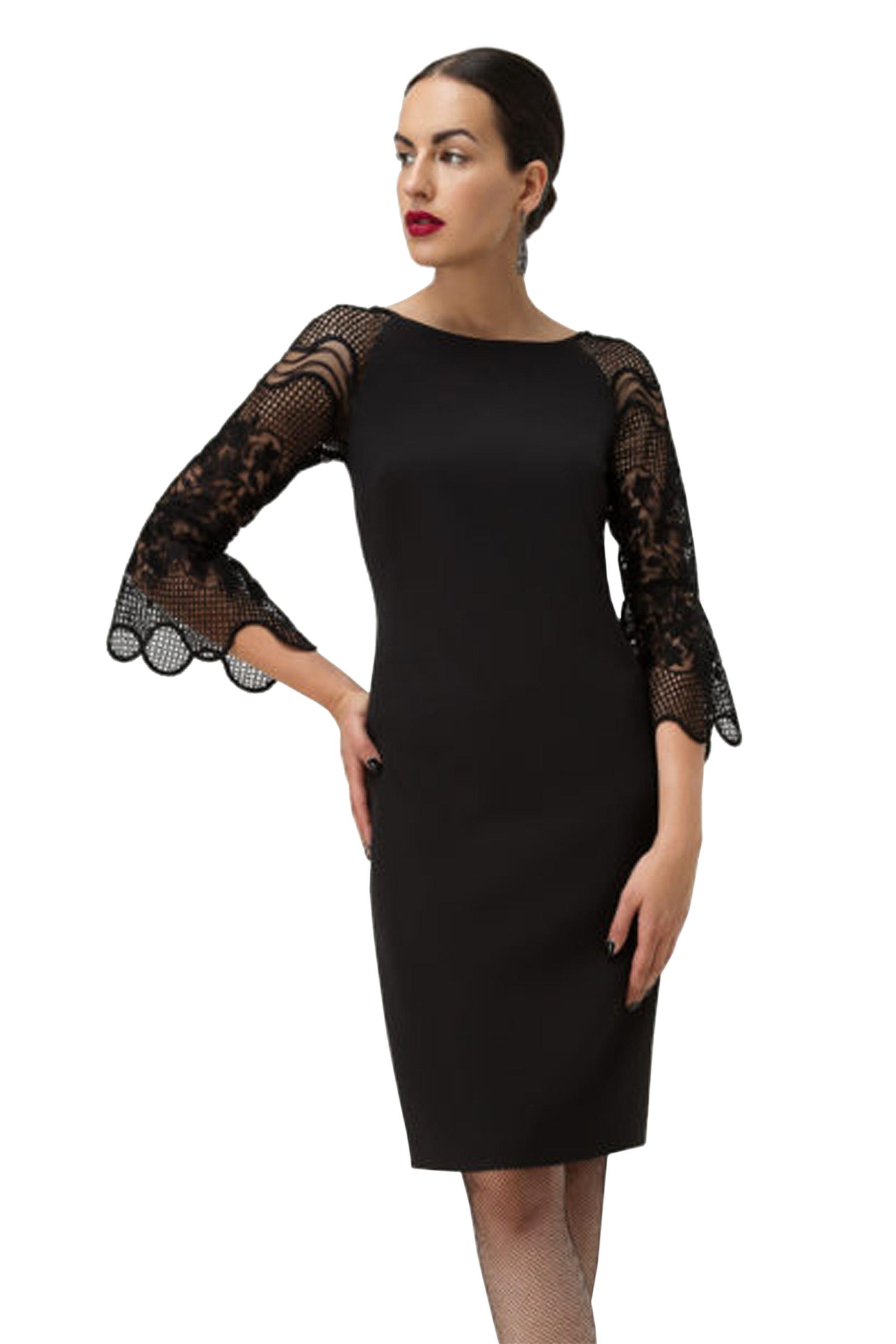 Billy Sabbado γυναικείο φόρεμα με μανίκια 3/4 από δαντέλα - 0110965511 - Μαύρο γυναικα   ρουχα   φορέματα   mini φορέματα