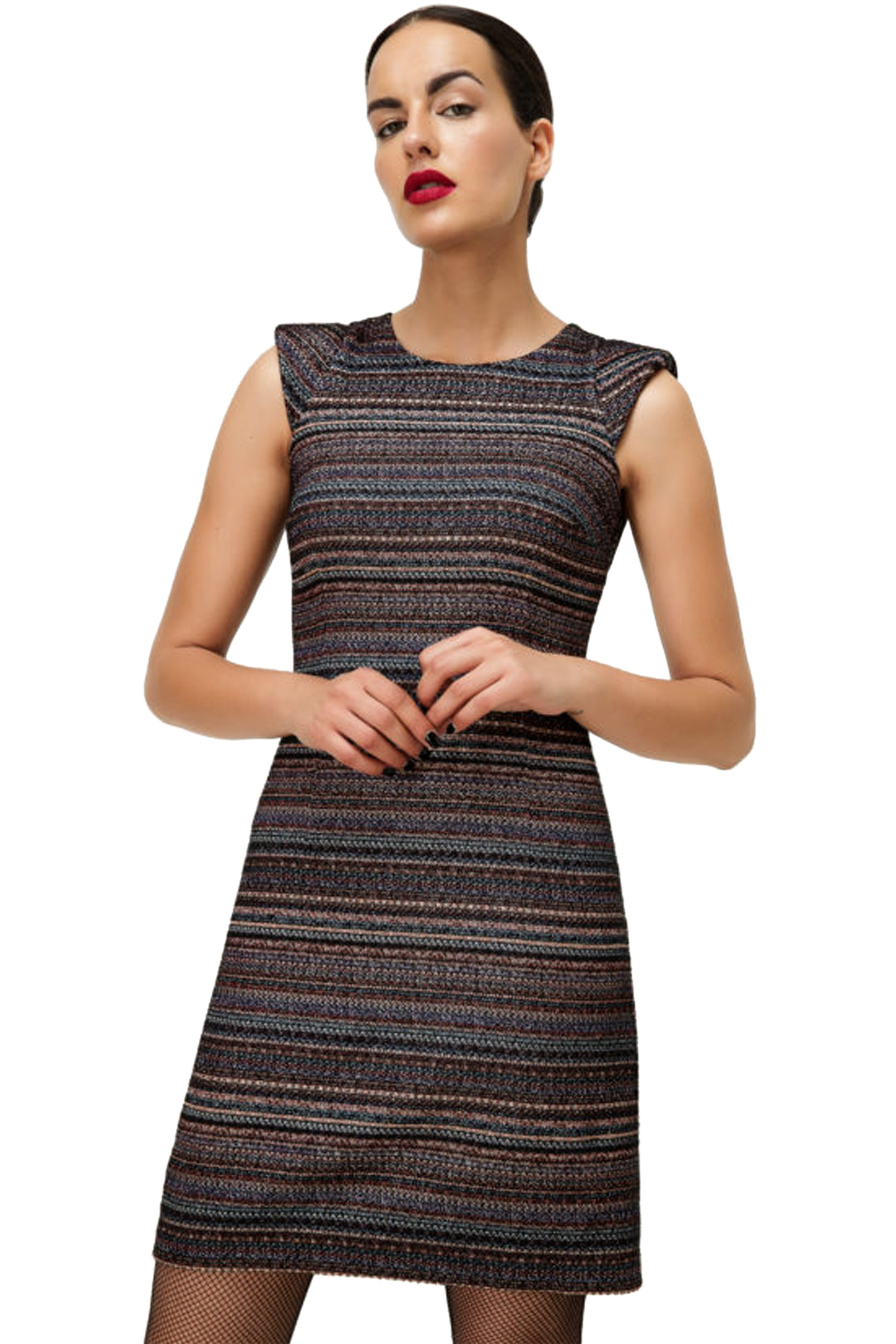 45e047a3776e Billy Sabbado γυναικείο μίνι φόρεμα tweed - 0141910554 - Μαύρο