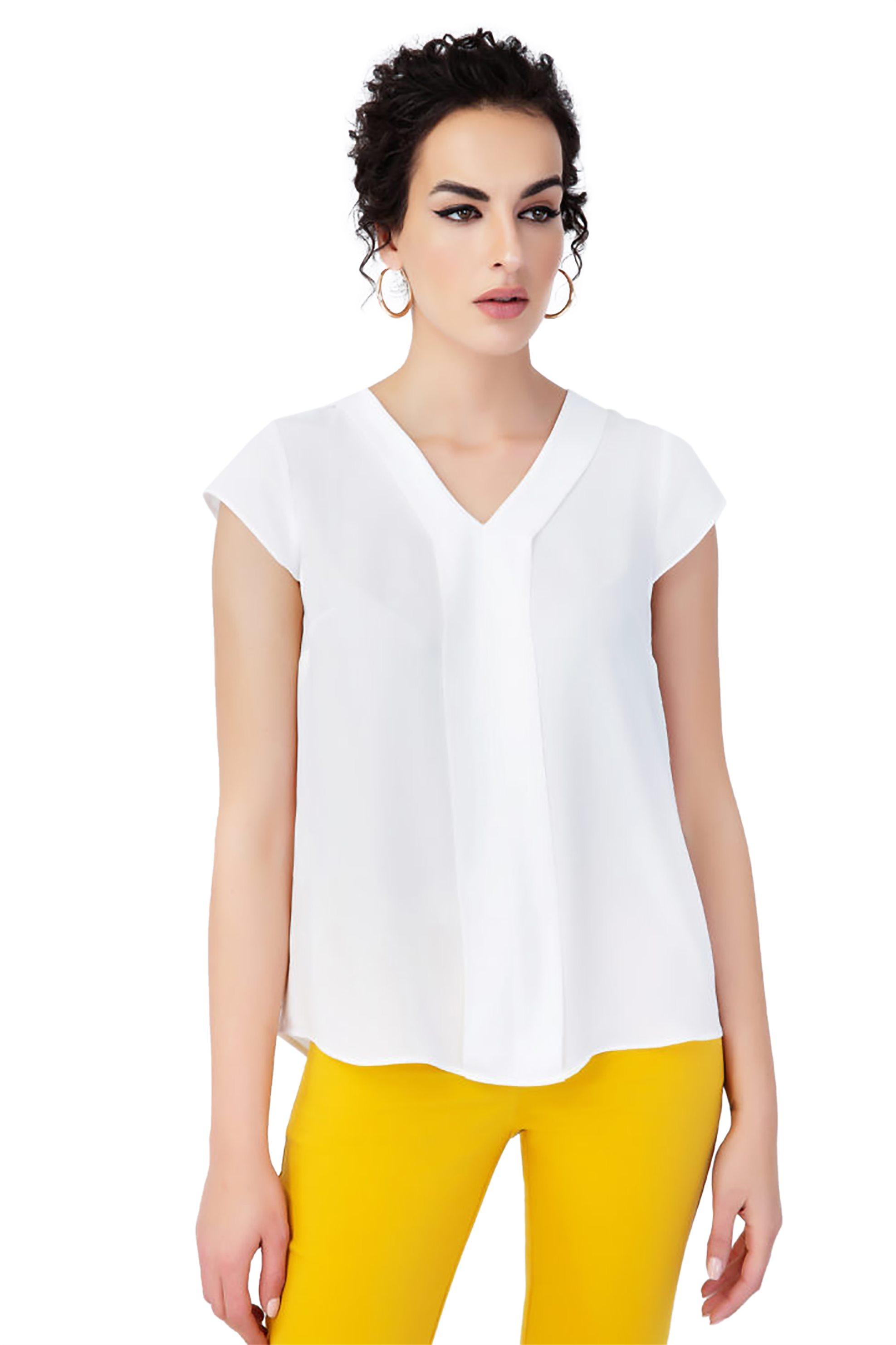 f469098bc856 Notos Billy Sabbado γυναικεία μπλούζα με V λαιμόκοψη - 0205299448 - Λευκό