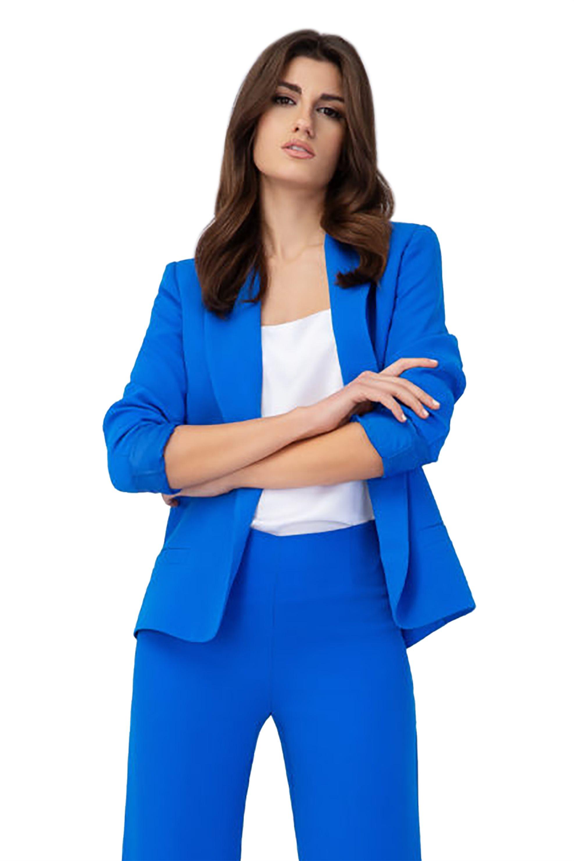 16bf57d30c9b Notos Billy Sabbado γυναικείο ανοιχτό σακάκι - 0205749277 - Μπλε Ηλεκτρίκ