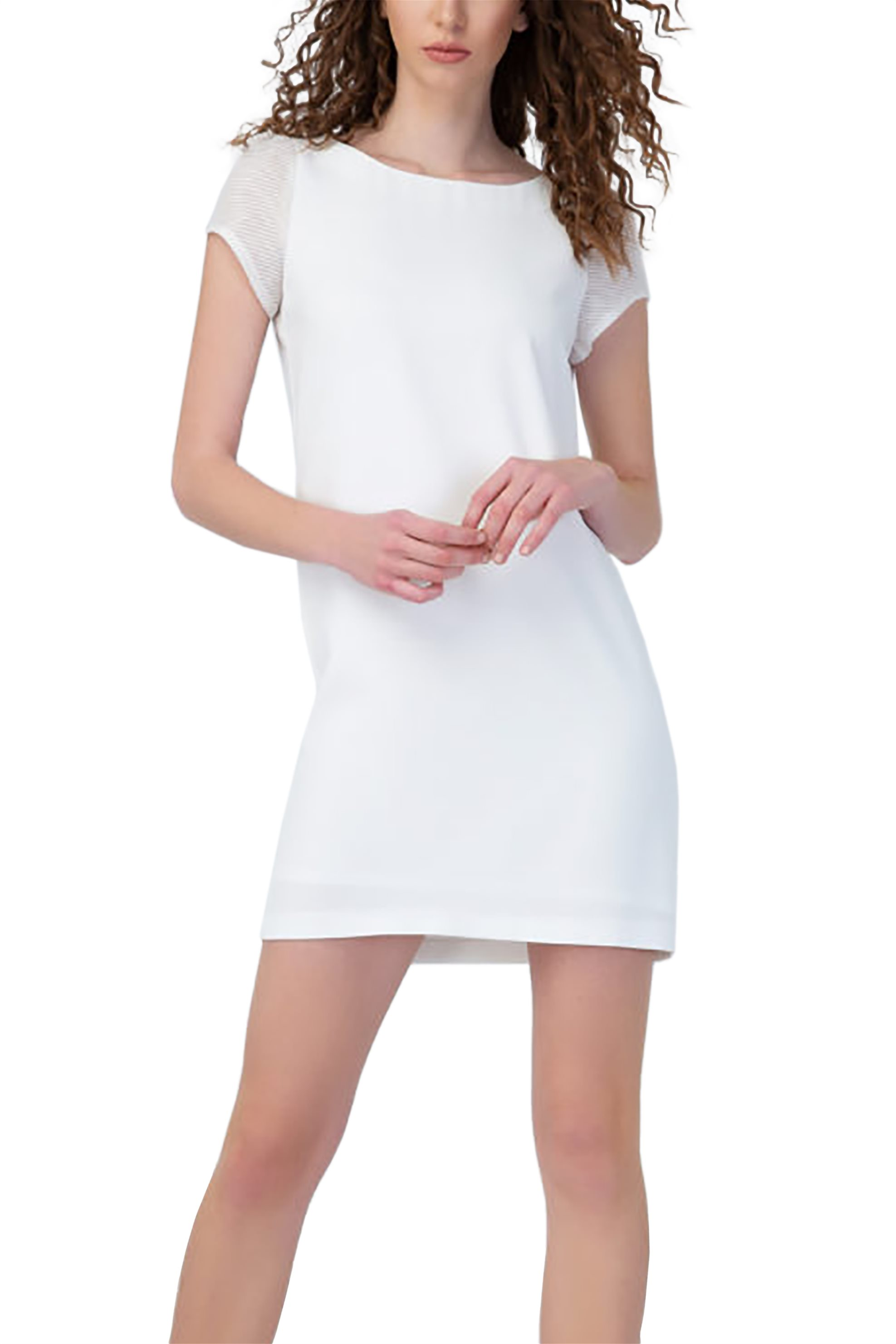 874a4bf8c4c1 Notos Billy Sabbado γυναικείο mini φόρεμα με διαφάνεια στα μανίκια -  292917277 - Λευκό